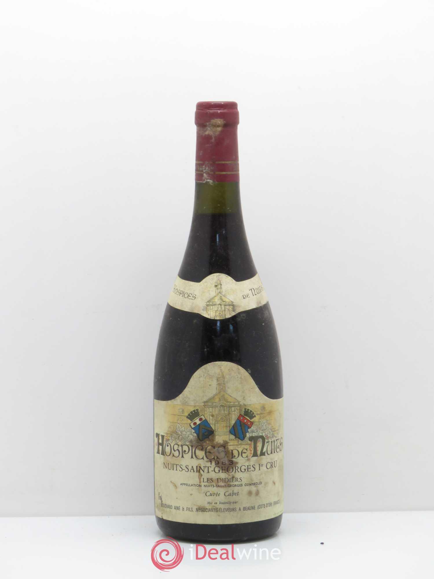 Etiquette  Vin de Bourgogne-Hospices De Nuits-1984-Nuits St.Georges 1er Cru