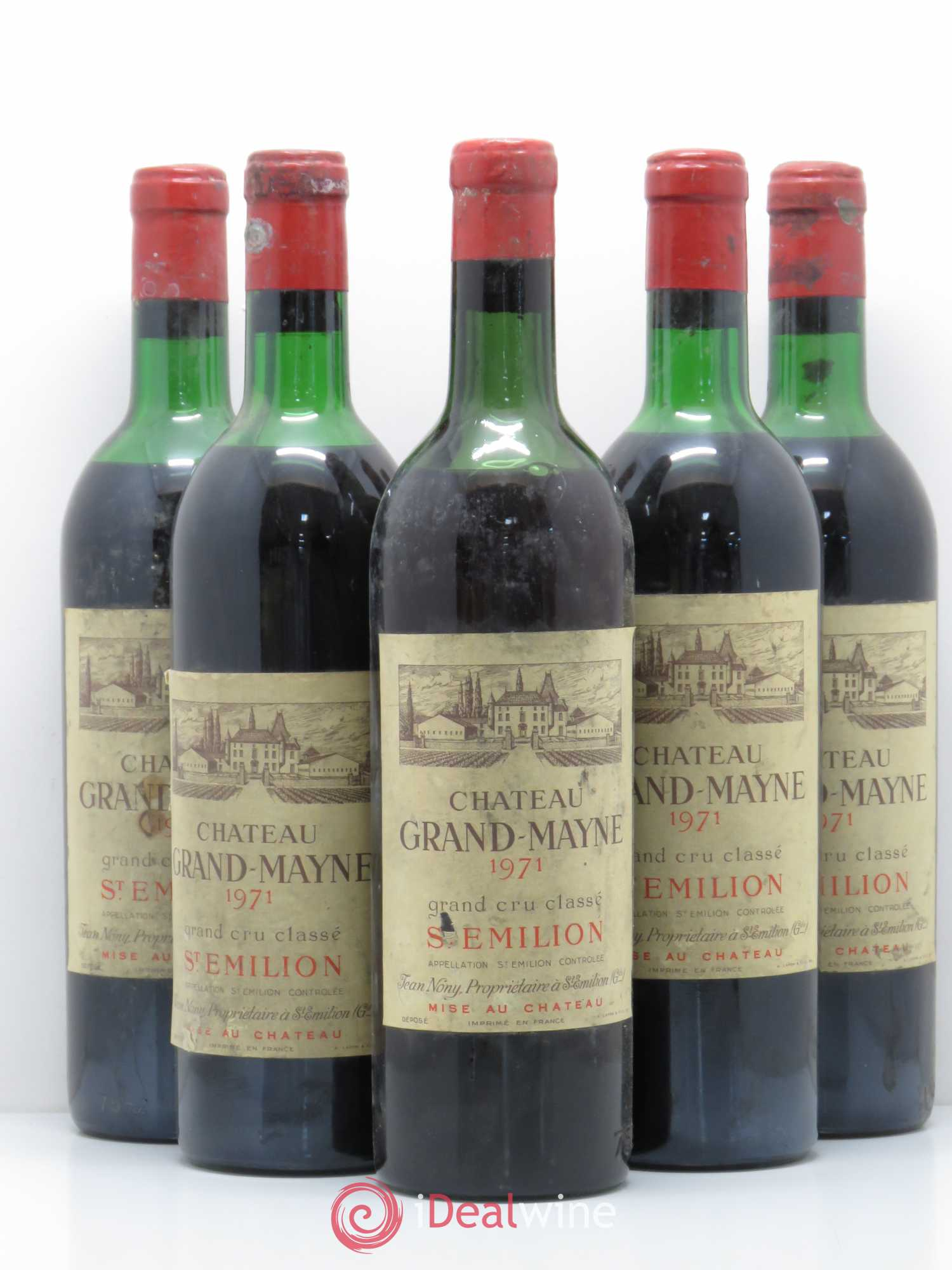Château Grand Mayne Grand Cru Classé (no reserve) 1971 - Lot of 5 Bottles