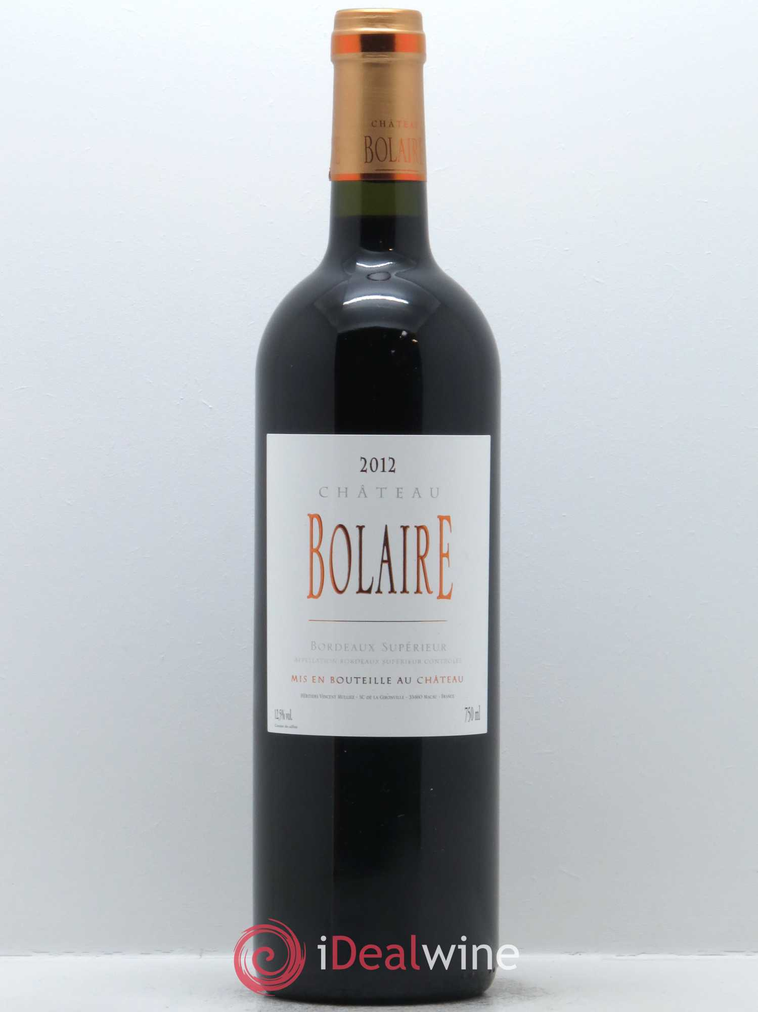 Bolaire  2012 - Lot of 1 Bottle