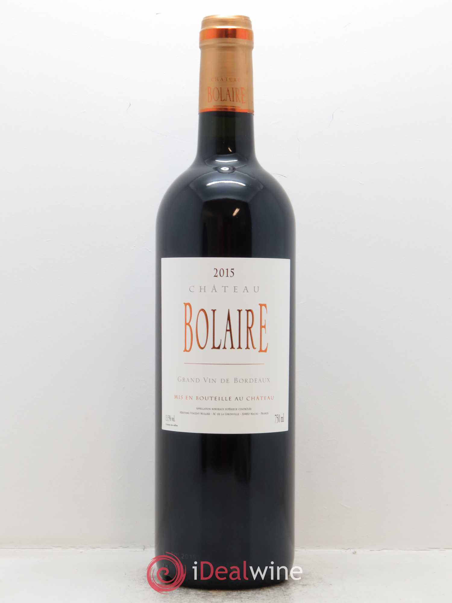 Bolaire  2015 - Lot of 1 Bottle
