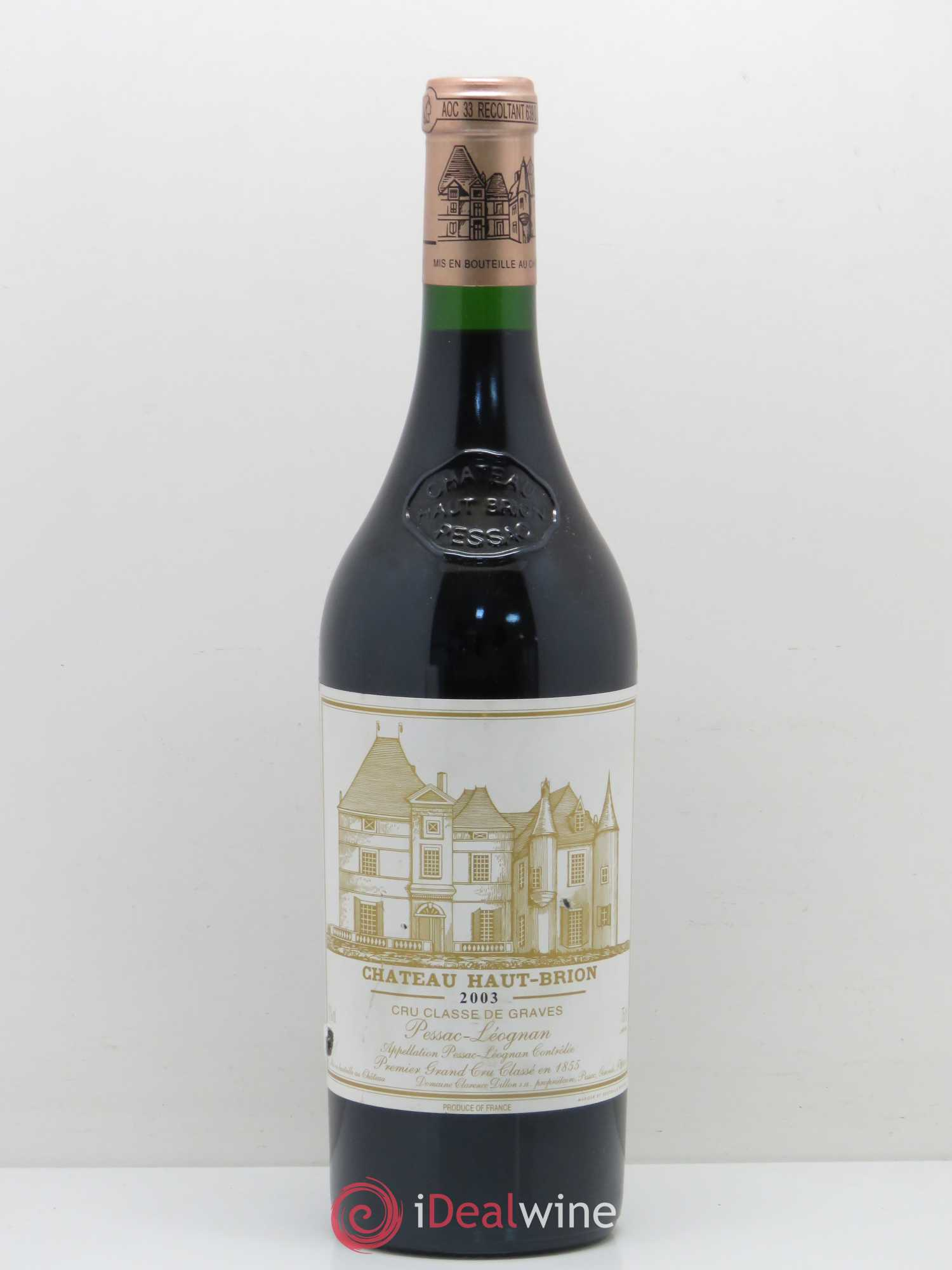Château Haut Brion 1er Grand Cru Classé  2003 - Lot of 1 Bottle