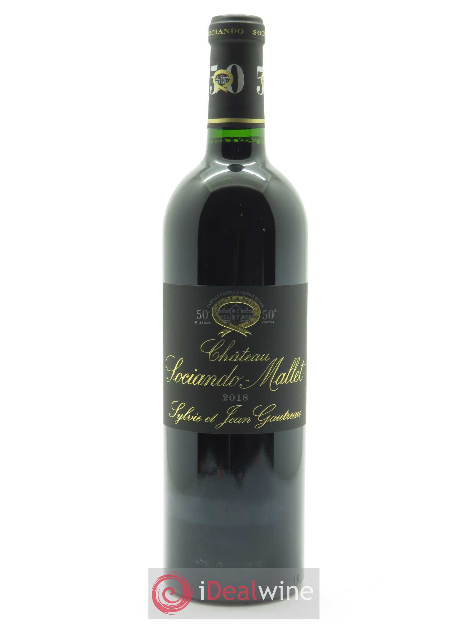 Château Sociando Mallet  2018 - Lot of 1 Bottle