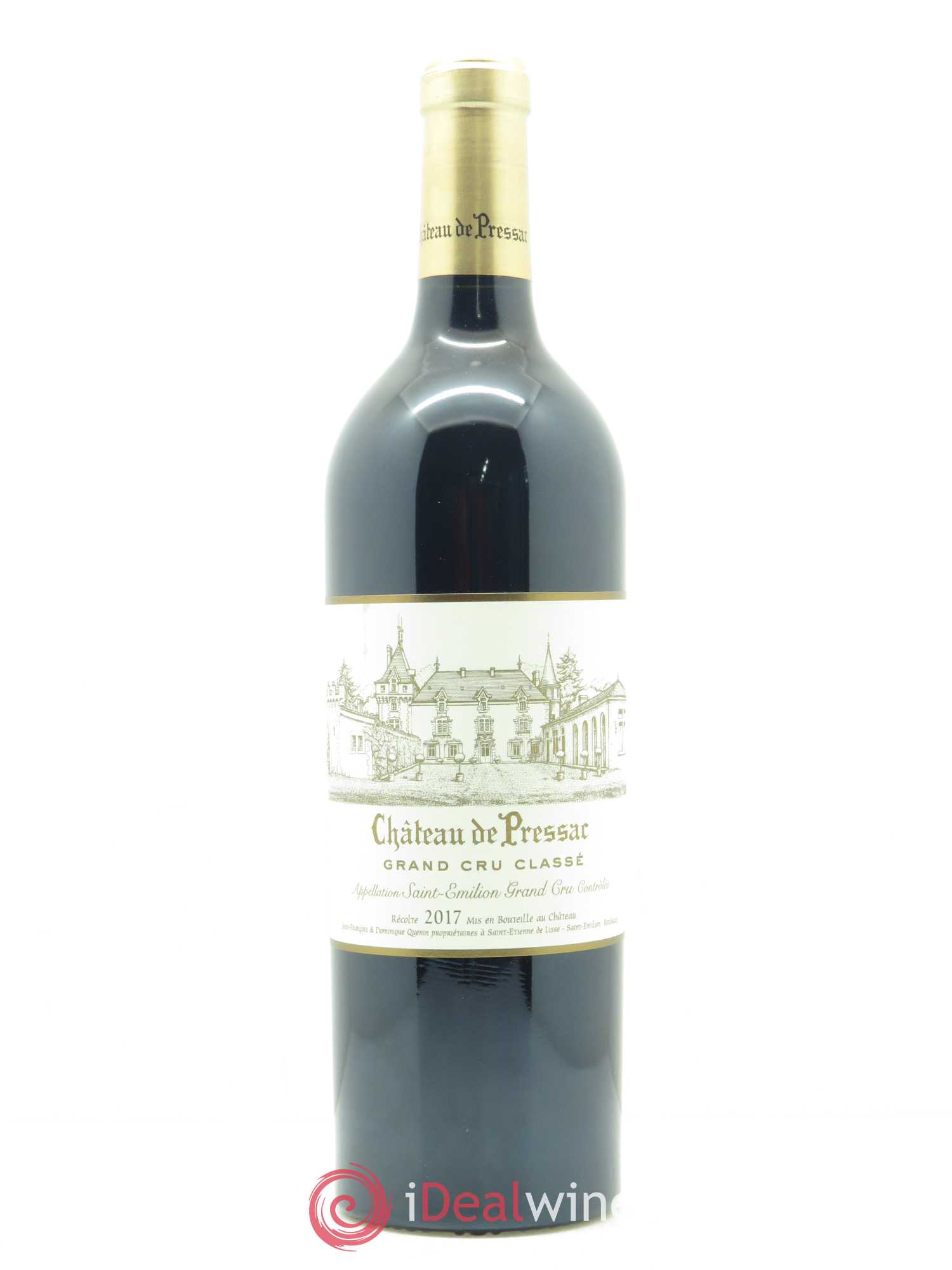 Château de Pressac Grand Cru Classé  2017 - Lot of 1 Bottle