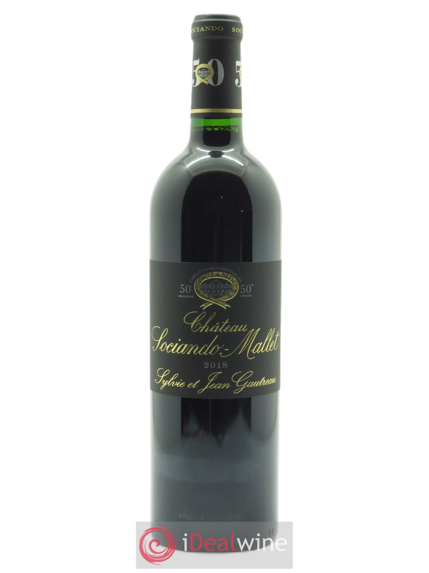 Château Sociando Mallet (OWC if 6 btls) 2018 - Lot of 1 Bottle