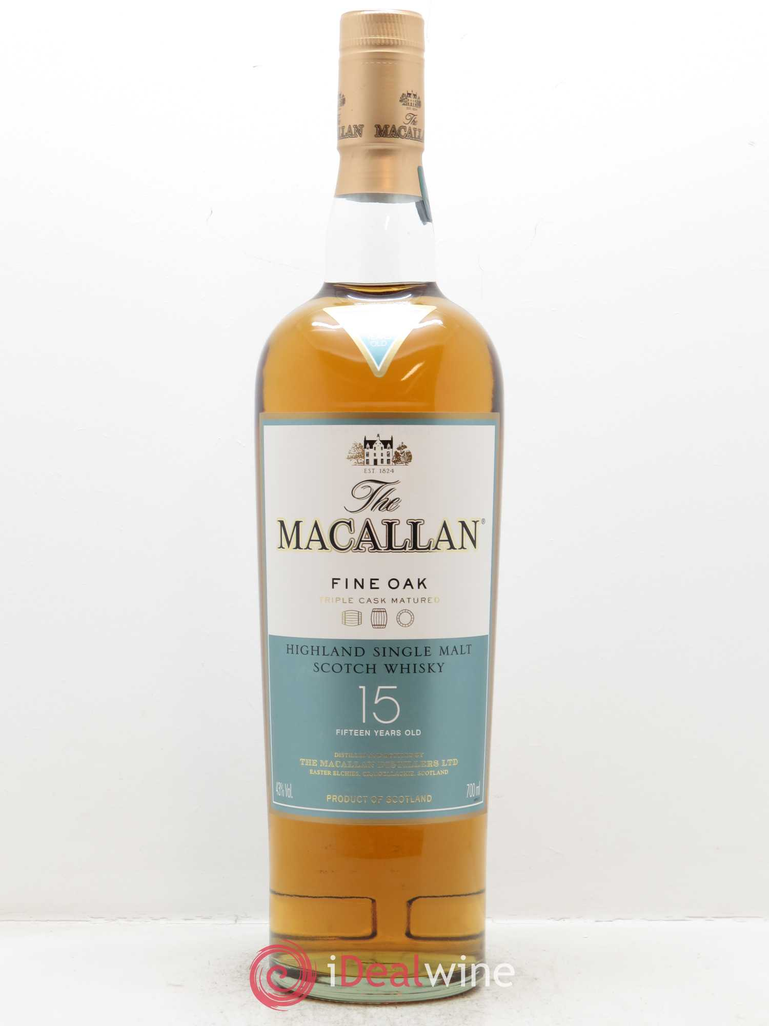 Whisky Fine Oak 15 years Old The Macallan (70cl)  - Lot de 1 Bouteille