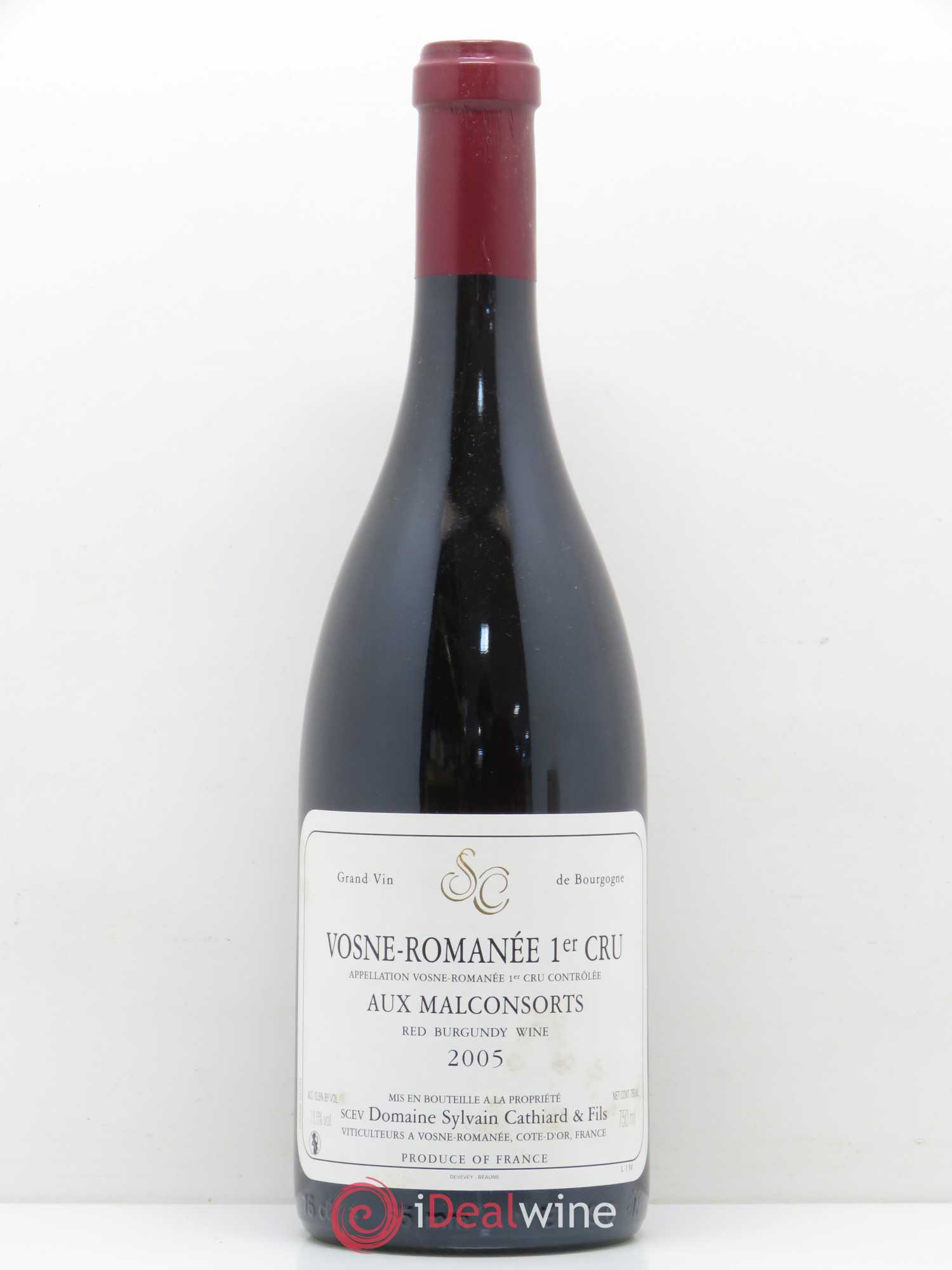 Vosne-Romanée 1er Cru Aux Malconsorts Sylvain Cathiard & Fils  2005 - Lot of 1 Bottle