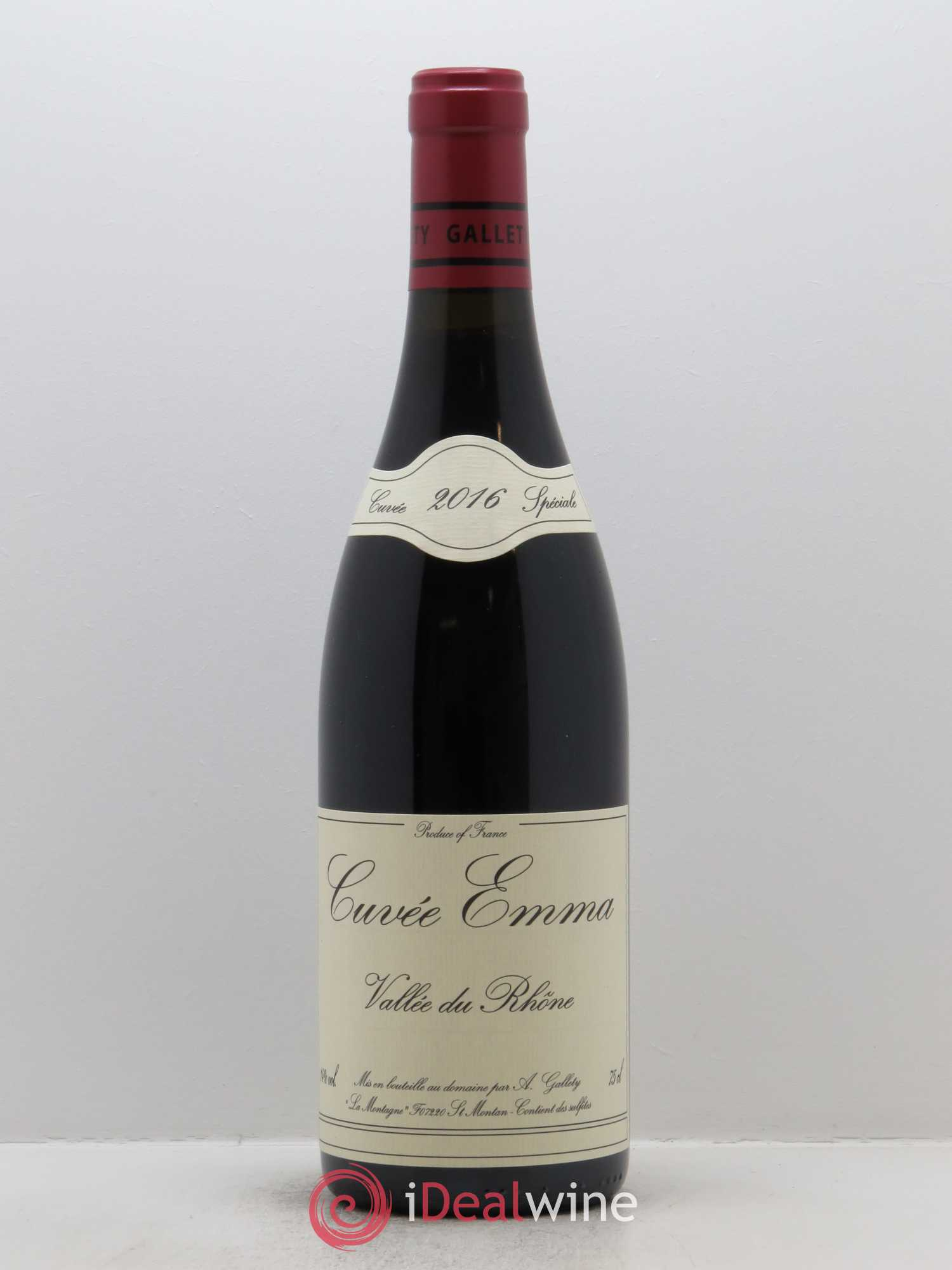 Côtes du Vivarais Cuvée Emma  2016 - Lot of 1 Bottle