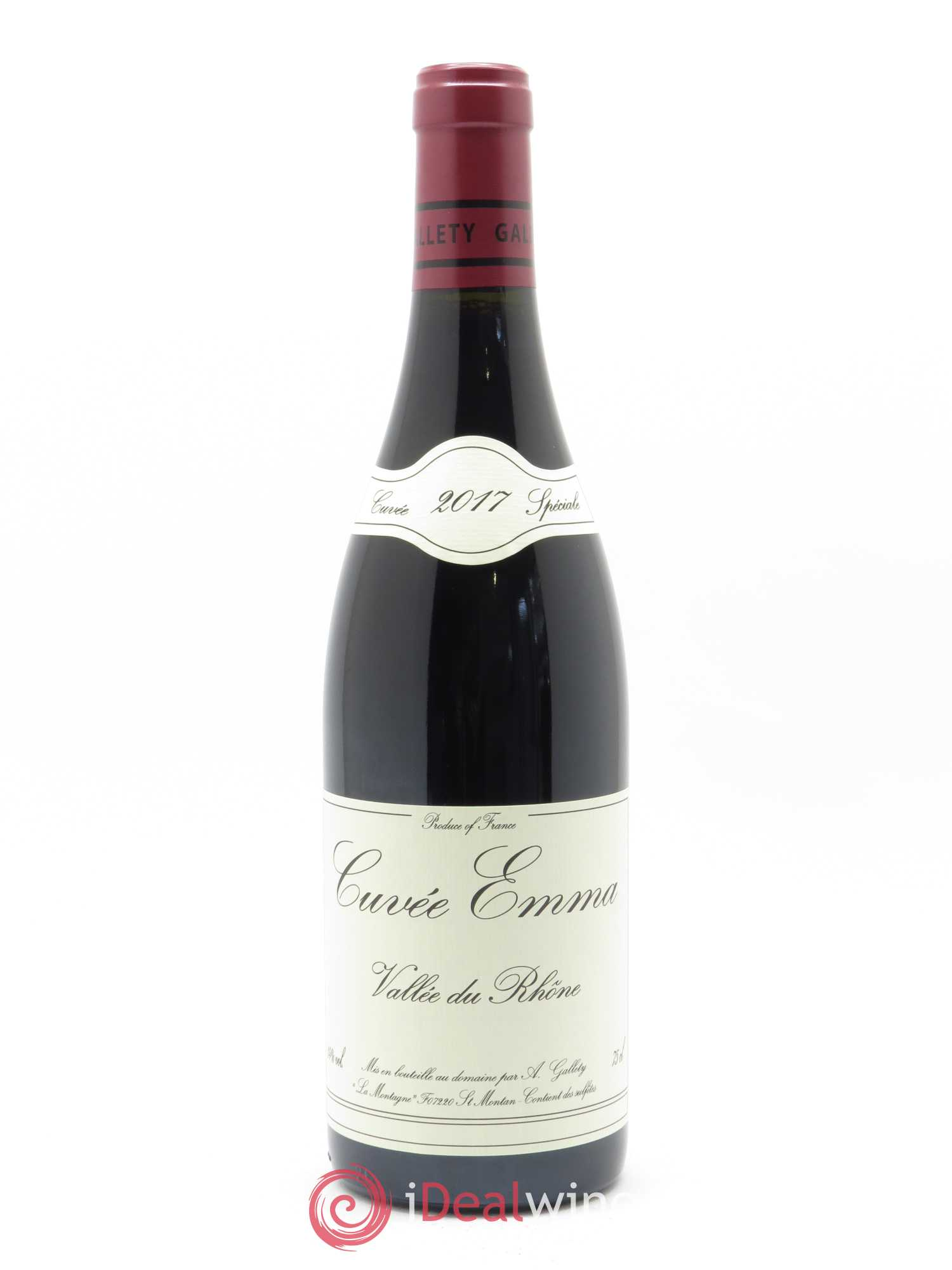 Côtes du Vivarais Cuvée Emma  2017 - Lot of 1 Bottle
