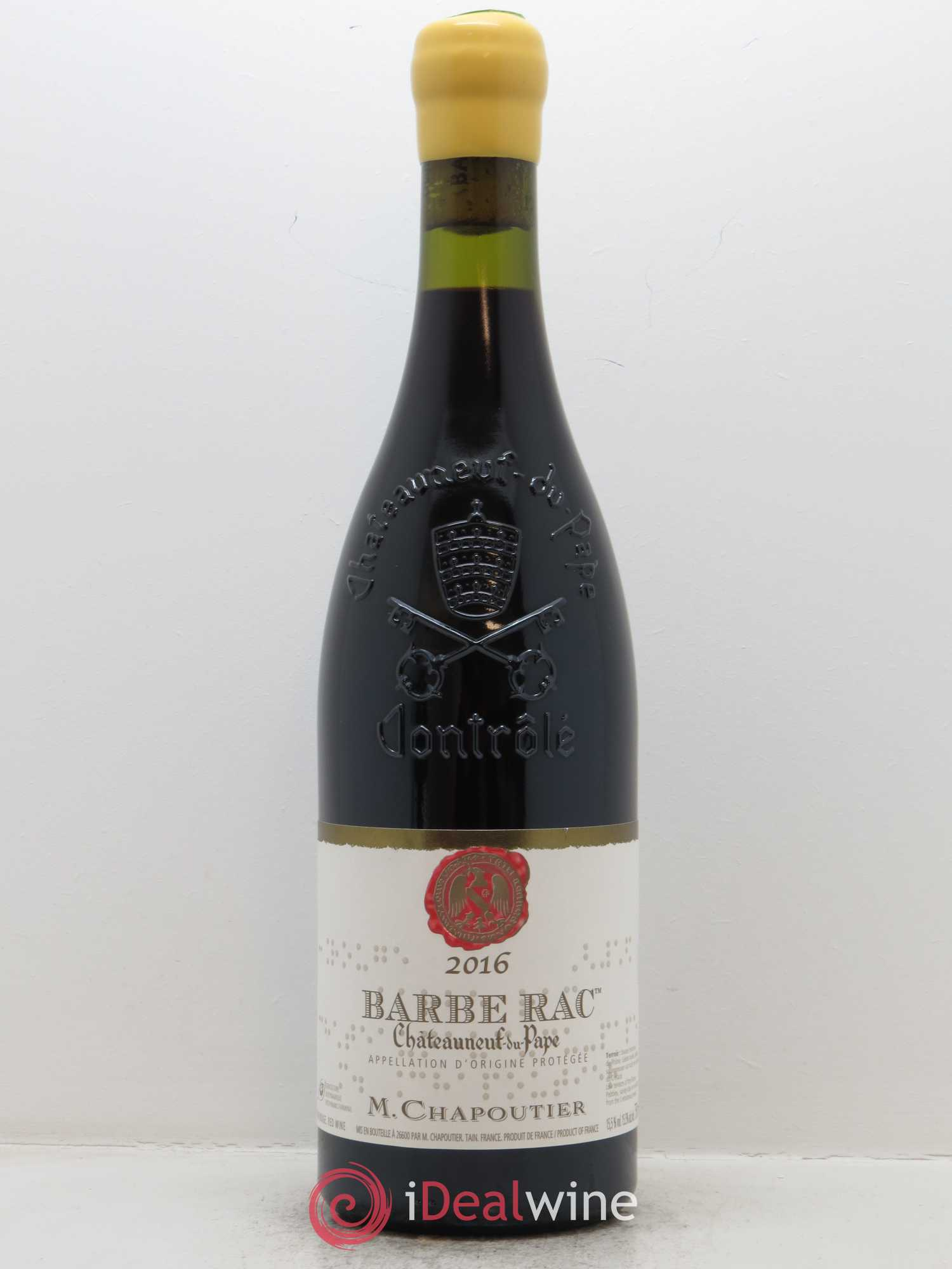 Châteauneuf-du-Pape M. Chapoutier Barbe Rac Chapoutier  2016 - Lot of 1 Bottle