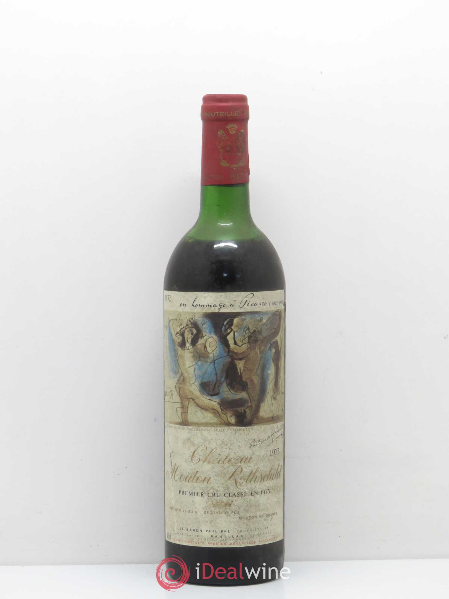 Château Mouton Rothschild 1er Grand Cru Classé  1975 - Lot of 1 Bottle