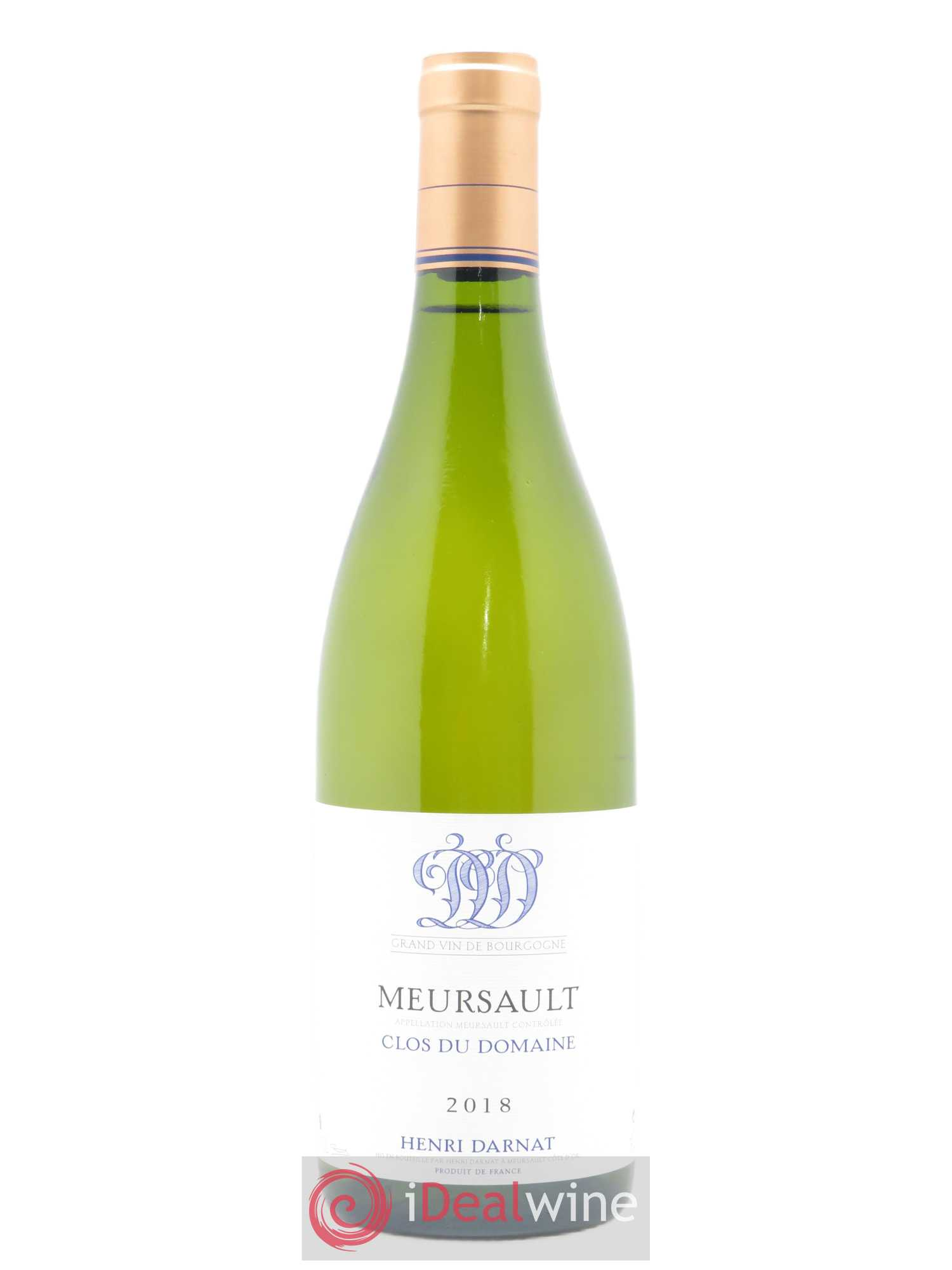 Meursault Clos du Domaine Henri Darnat  2018 - Lot of 1 Bottle