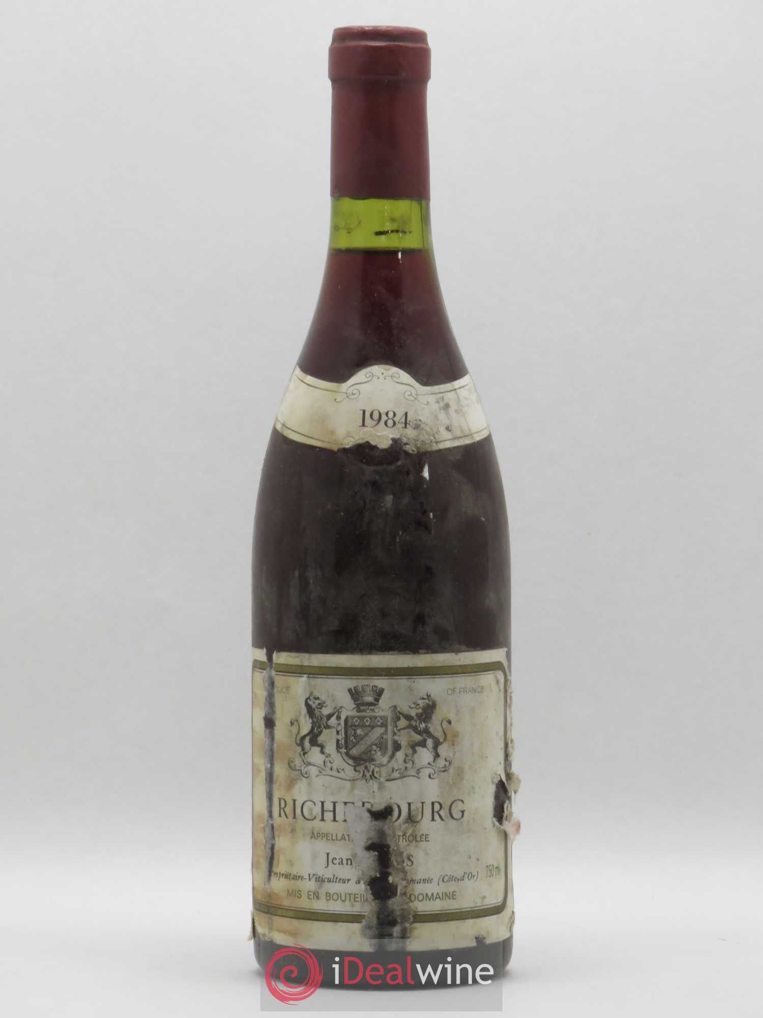 Richebourg Grand Cru Jean Gros  1984 - Lot of 1 Bottle