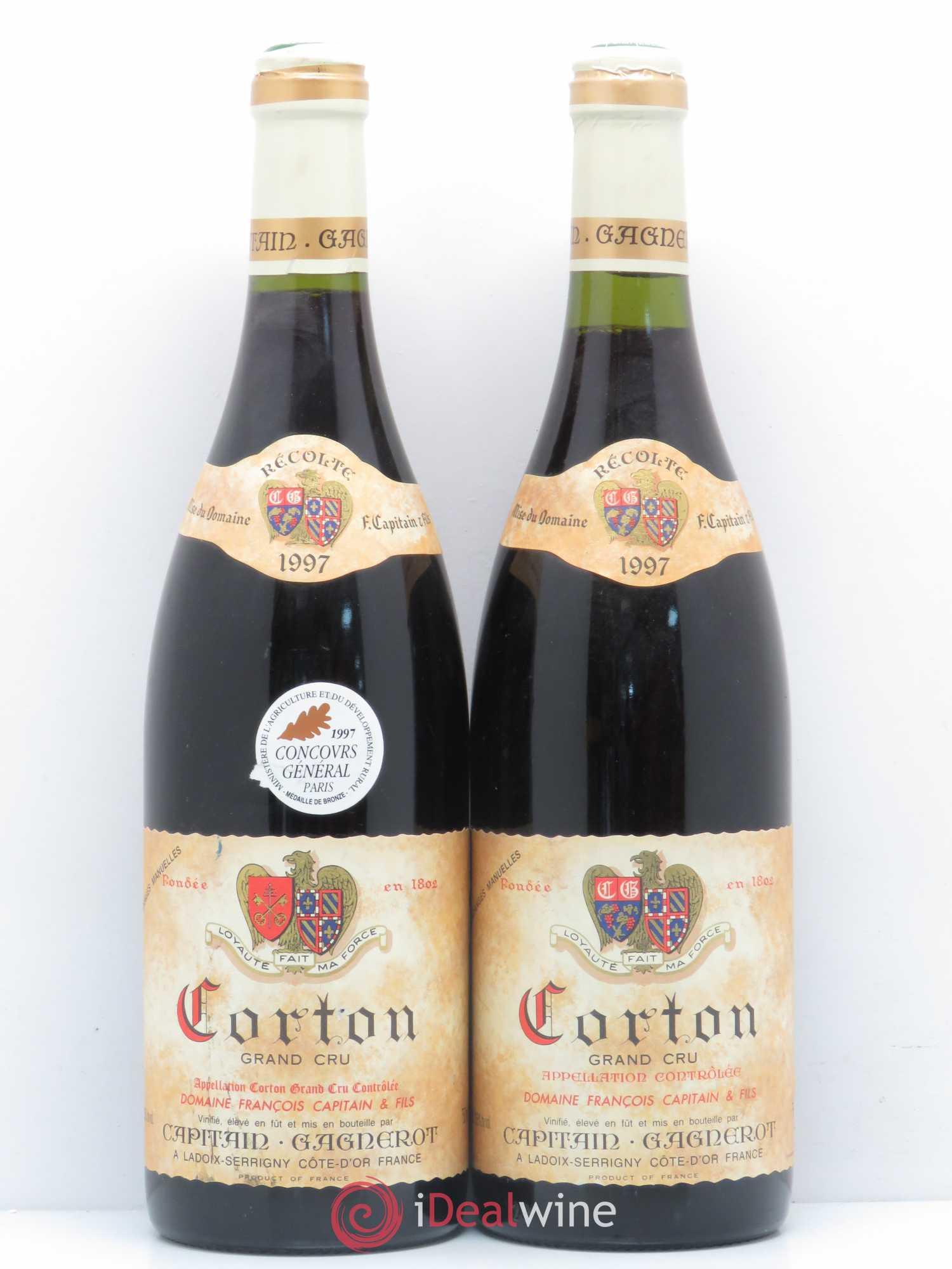 Corton Grand Cru Capitain Gagnerot (no reserve) 1997