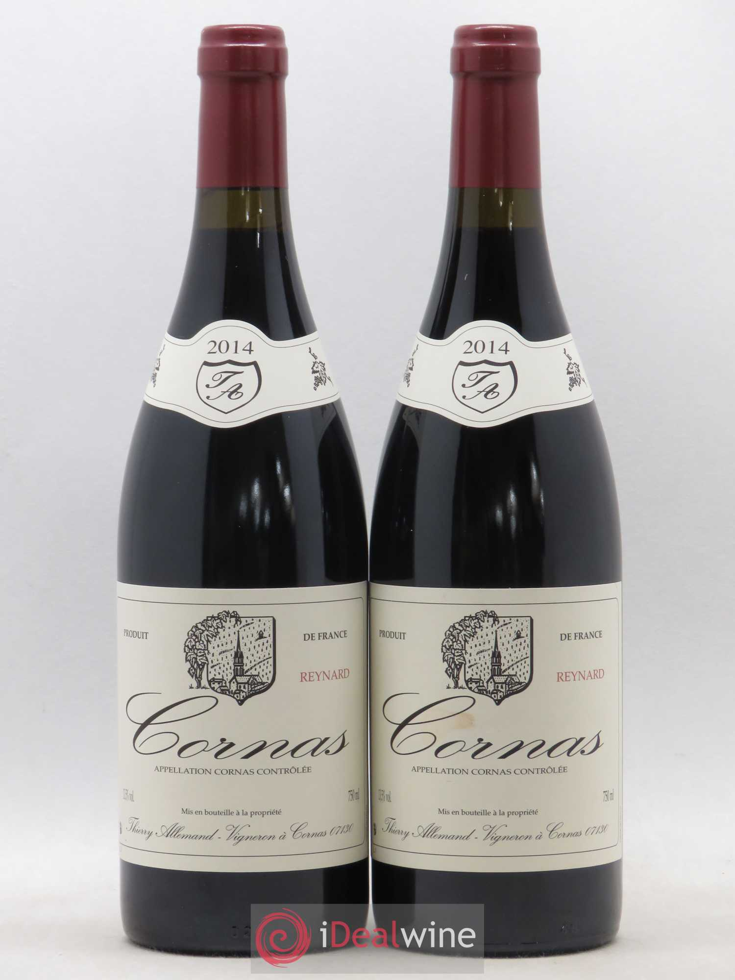 Cornas Reynard Thierry Allemand  2014 - Lot of 2 Bottles