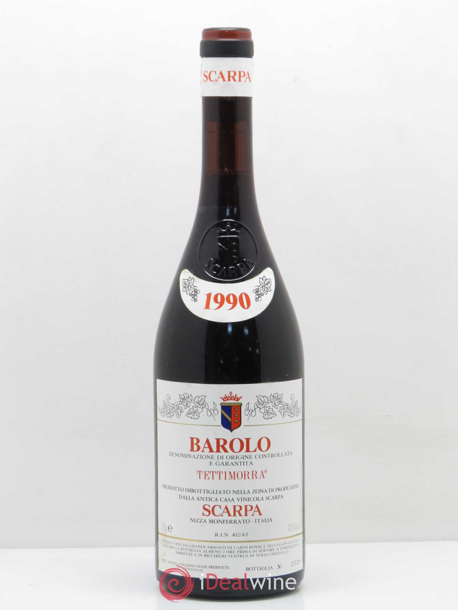 Tettimorra Scarpa Barolo 1990 Barolo Docg Tettimorra Scarpa Docg 8wOXP0kn