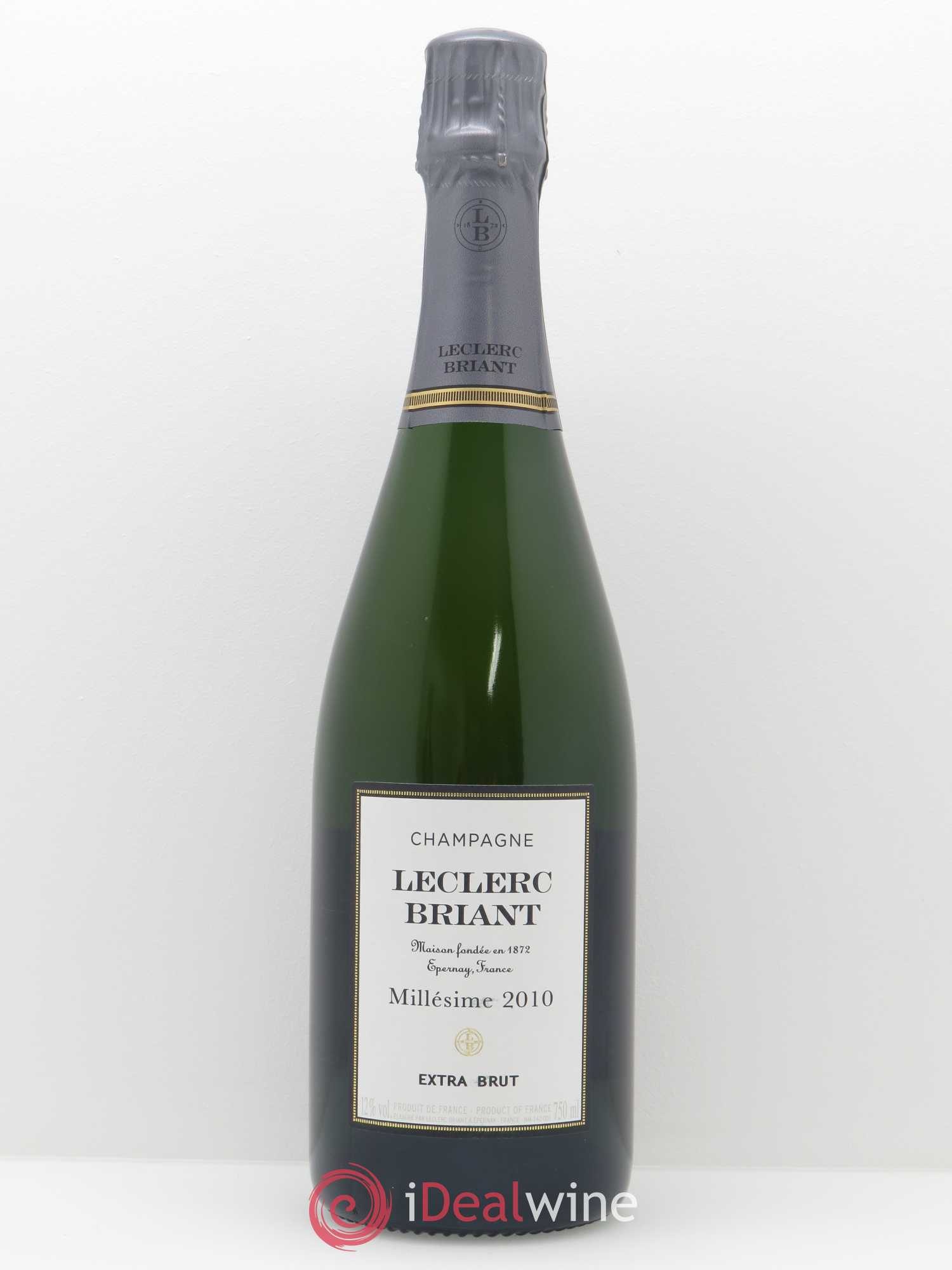 Brut Millésimé Leclerc Briant  2010 - Lot of 1 Bottle
