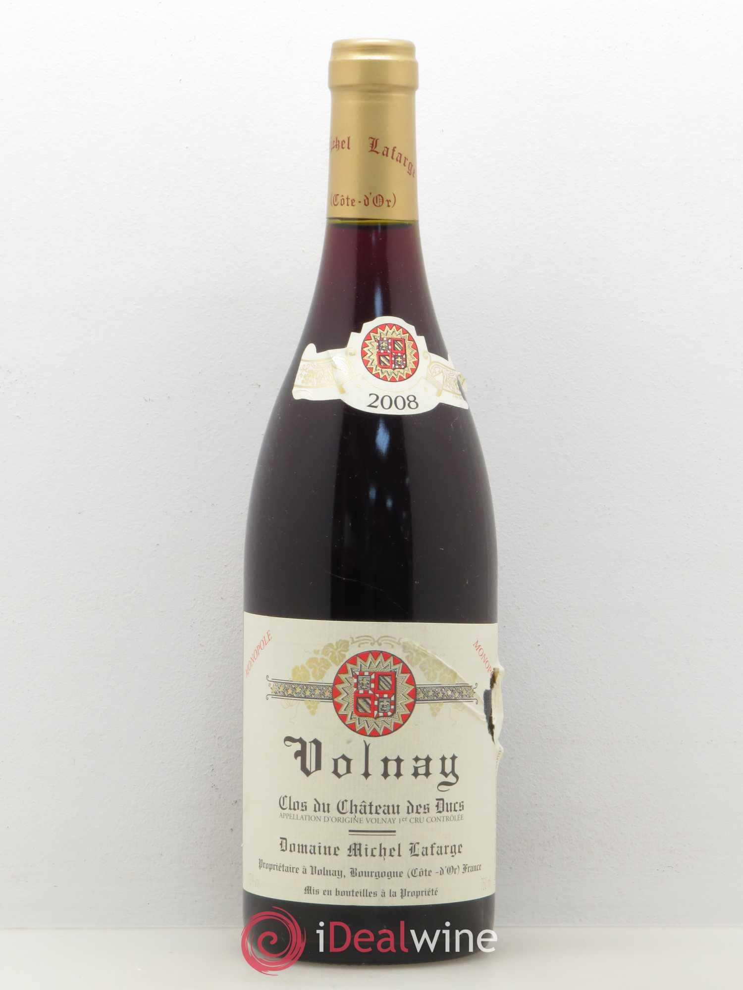 Buy Volnay 1er Cru Clos Du Château Des Ducs Lafarge Domaine 2008 Lot 5622