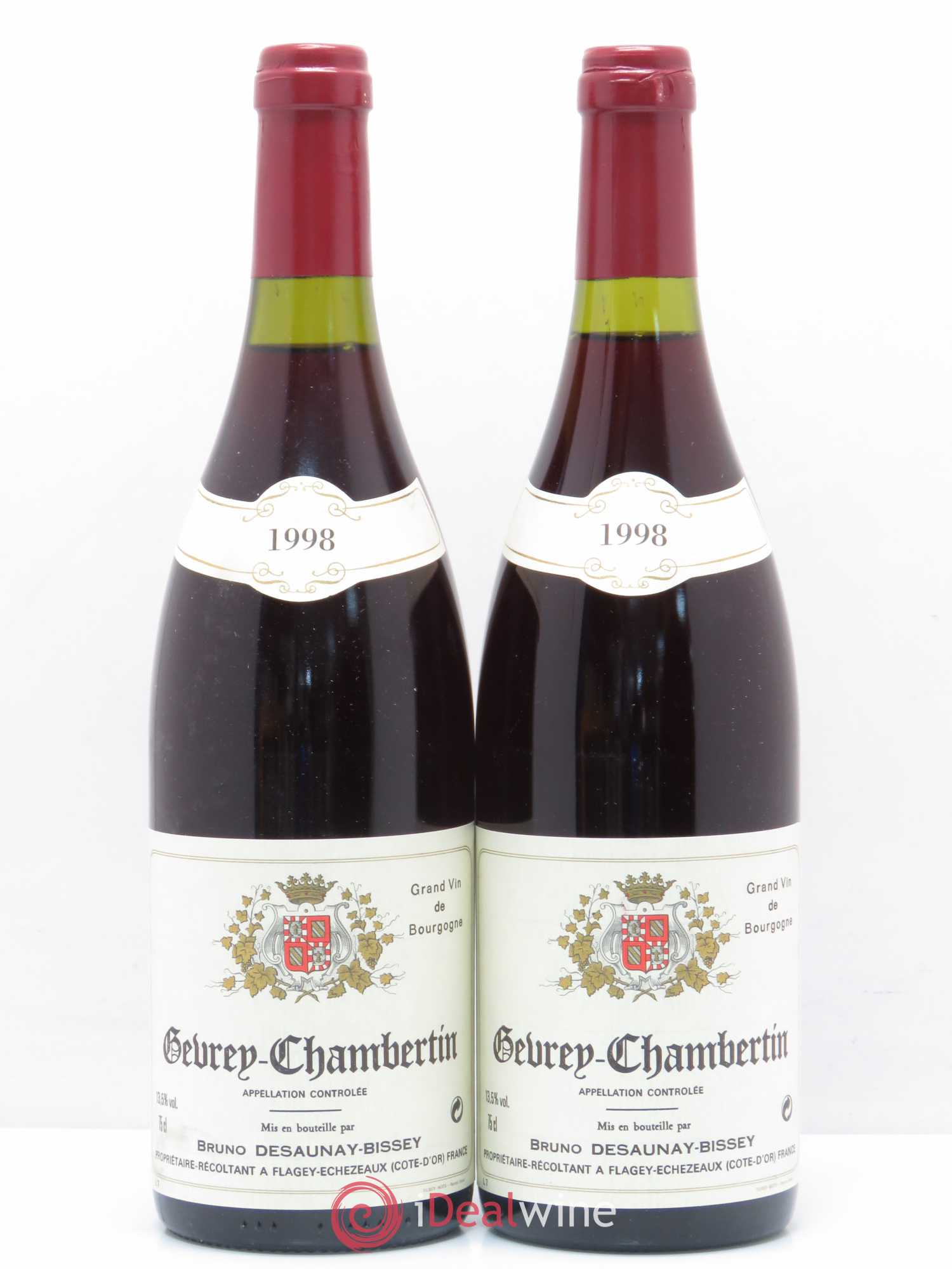 Gevrey-Chambertin Domaine Bruno Desaunay-Bissey 1998 - Lot of 2 Bottles