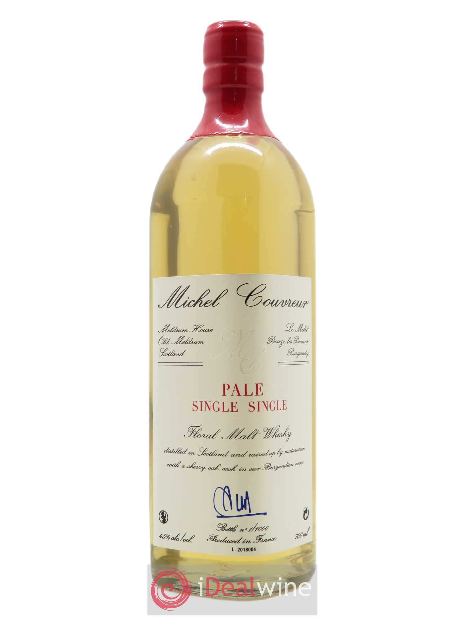 Whisky Pale Single Single Michel Couvreur (70cl)  - Lot de 1 Bouteille