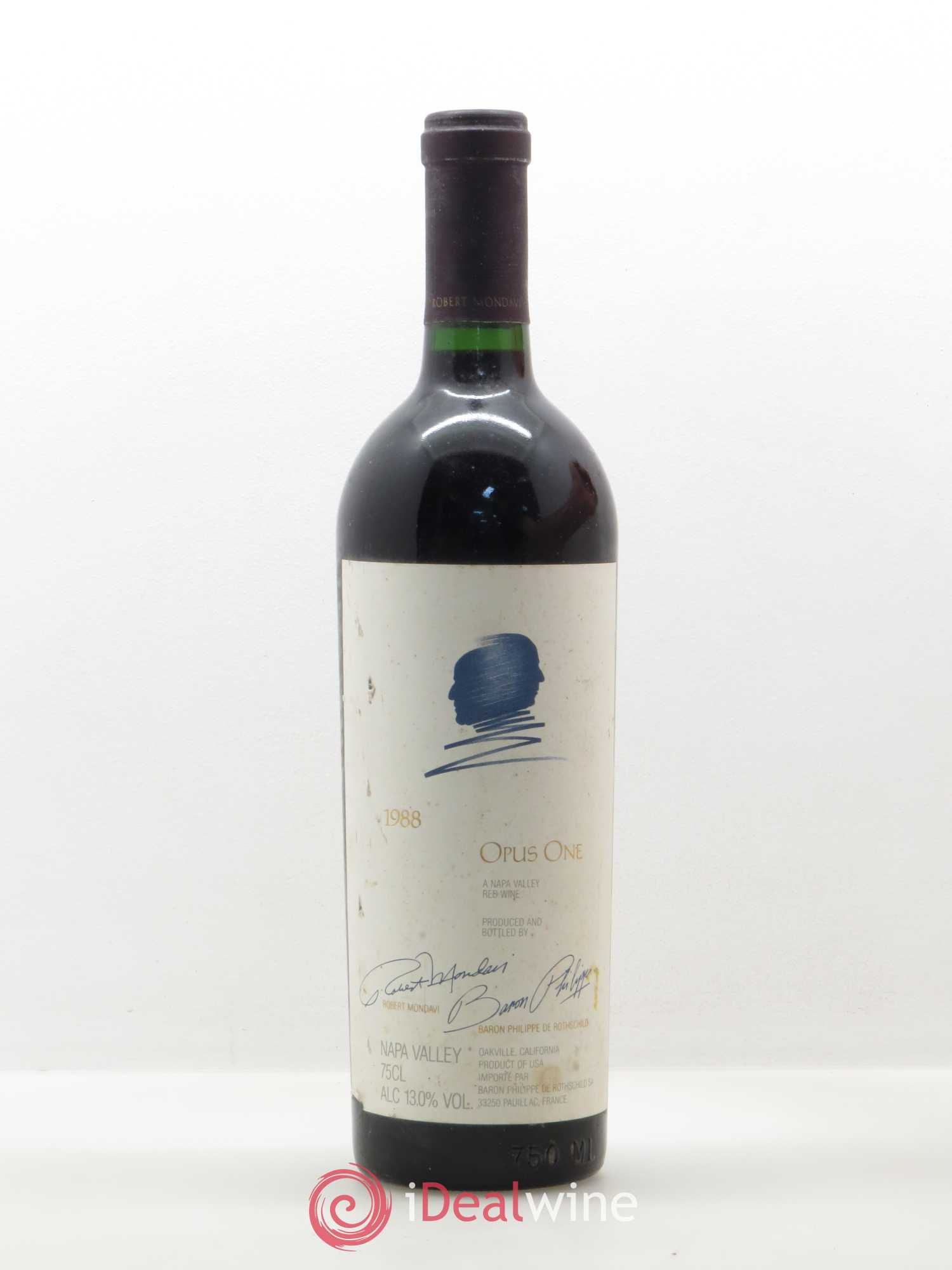 Oakville Opus One Constellation Brands Baron Philippe de Rothschild  1988 - Lot de 1 Bouteille