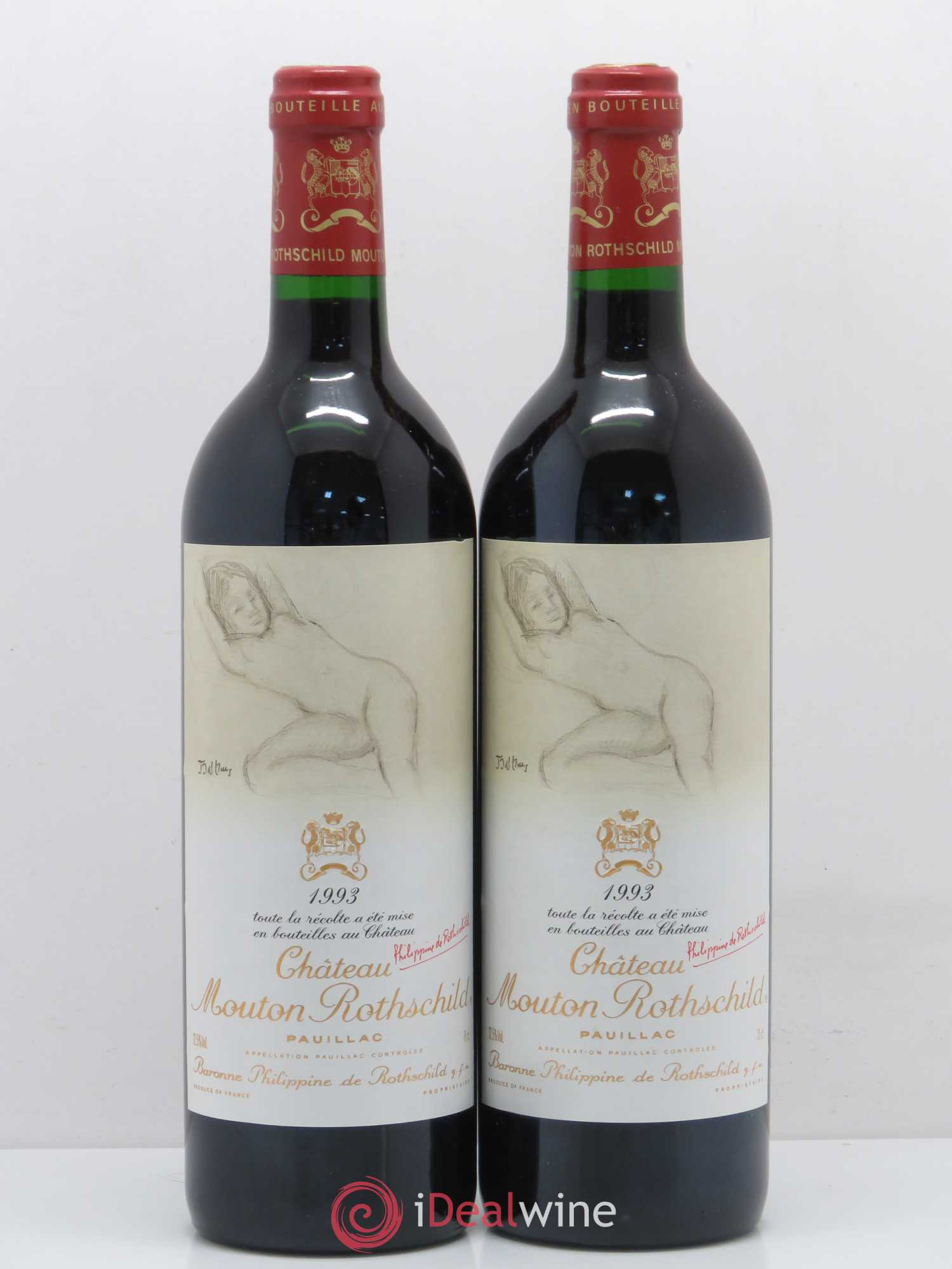 Château Mouton Rothschild 1er Grand Cru Classé  1993 - Lot of 2 Bottles