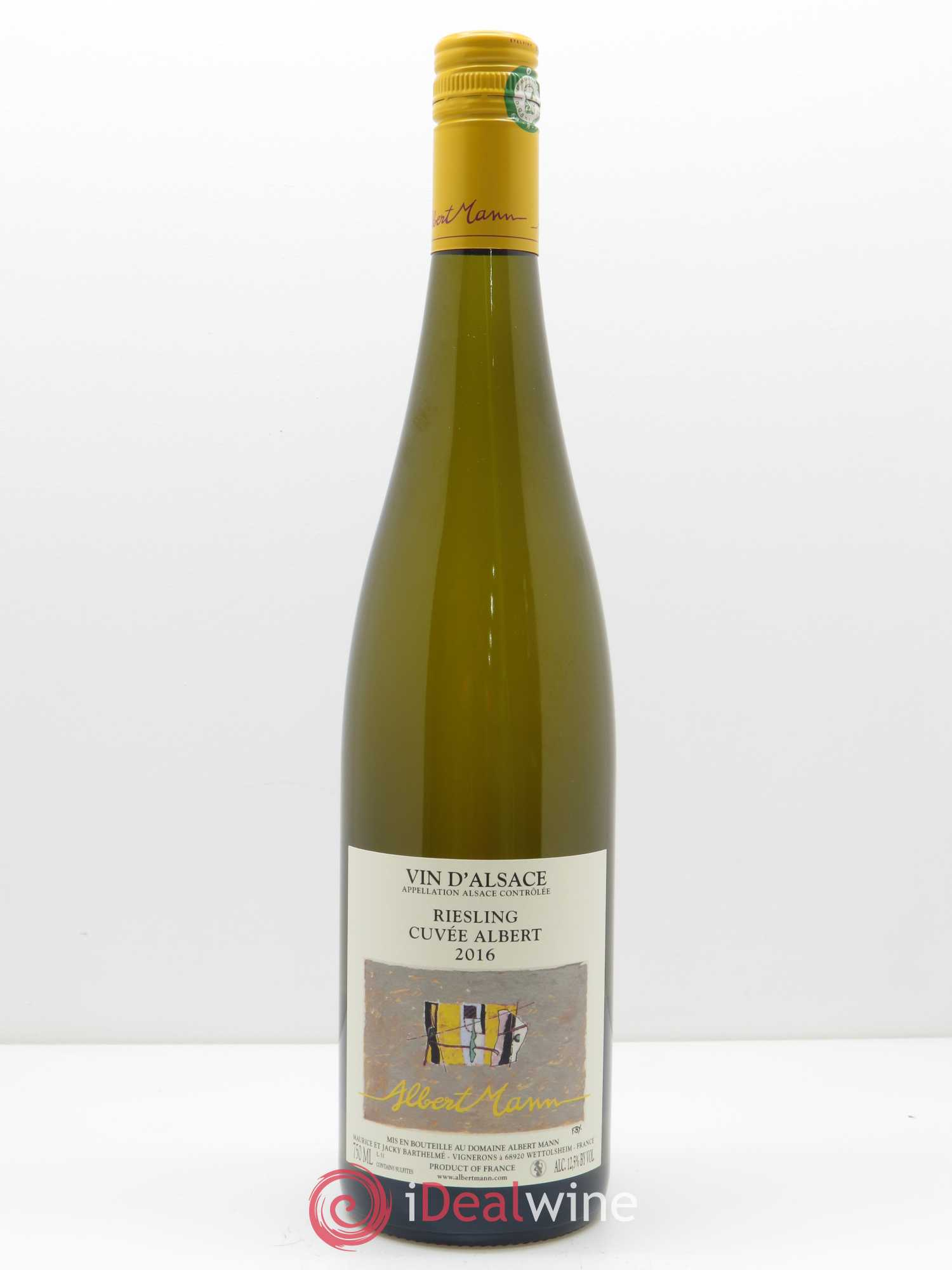 Riesling Cuvée Albert Albert Mann  2016 - Lot of 1 Bottle
