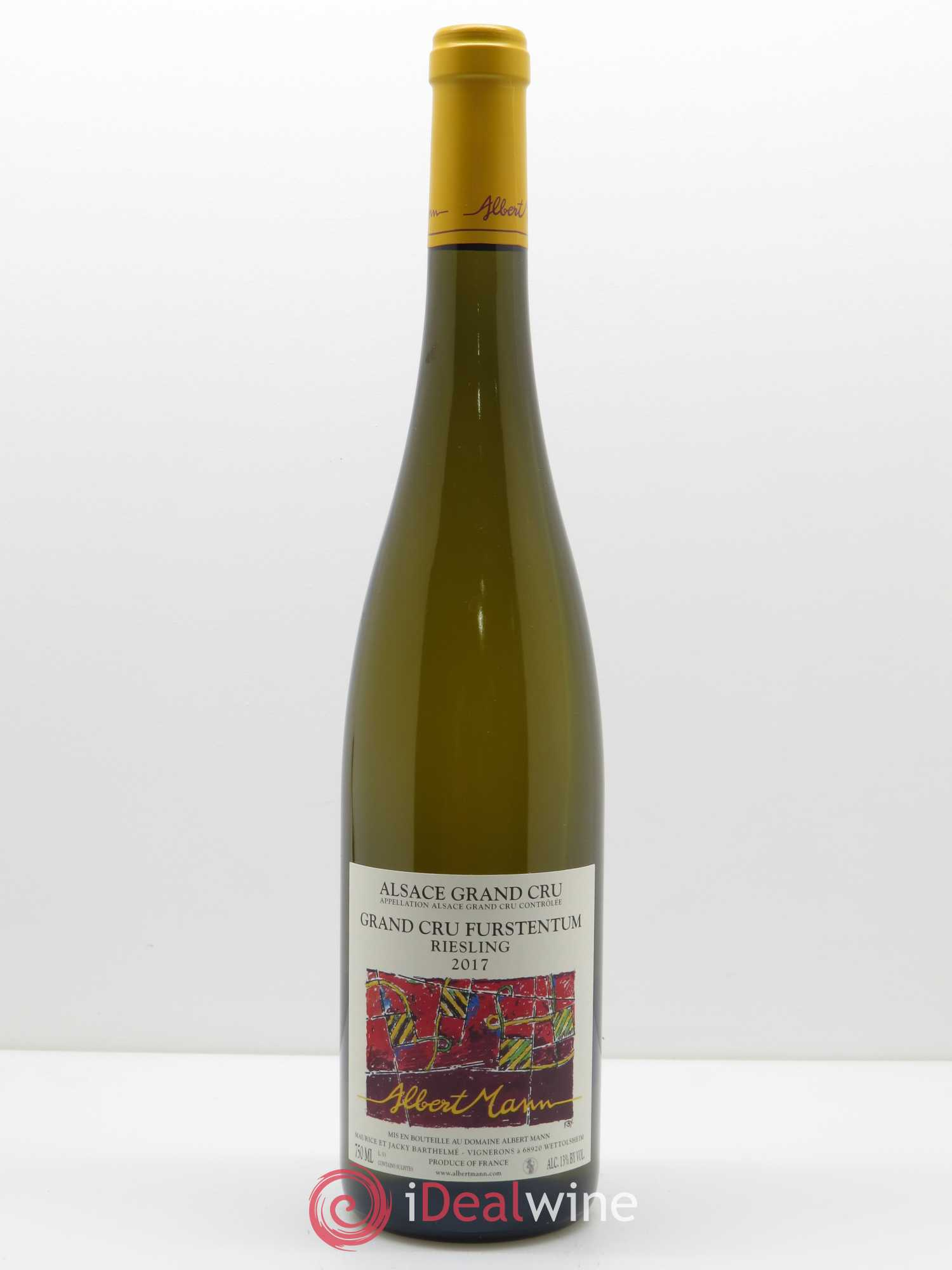 Riesling Grand Cru Furstentum Albert Mann  2017 - Lot de 1 Bouteille
