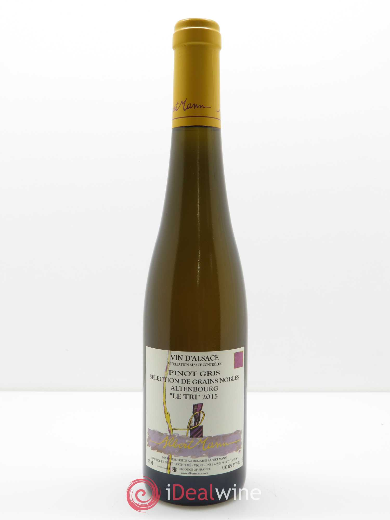 Pinot Gris Altenbourg Sélection de grains nobles Le Tri Albert Mann