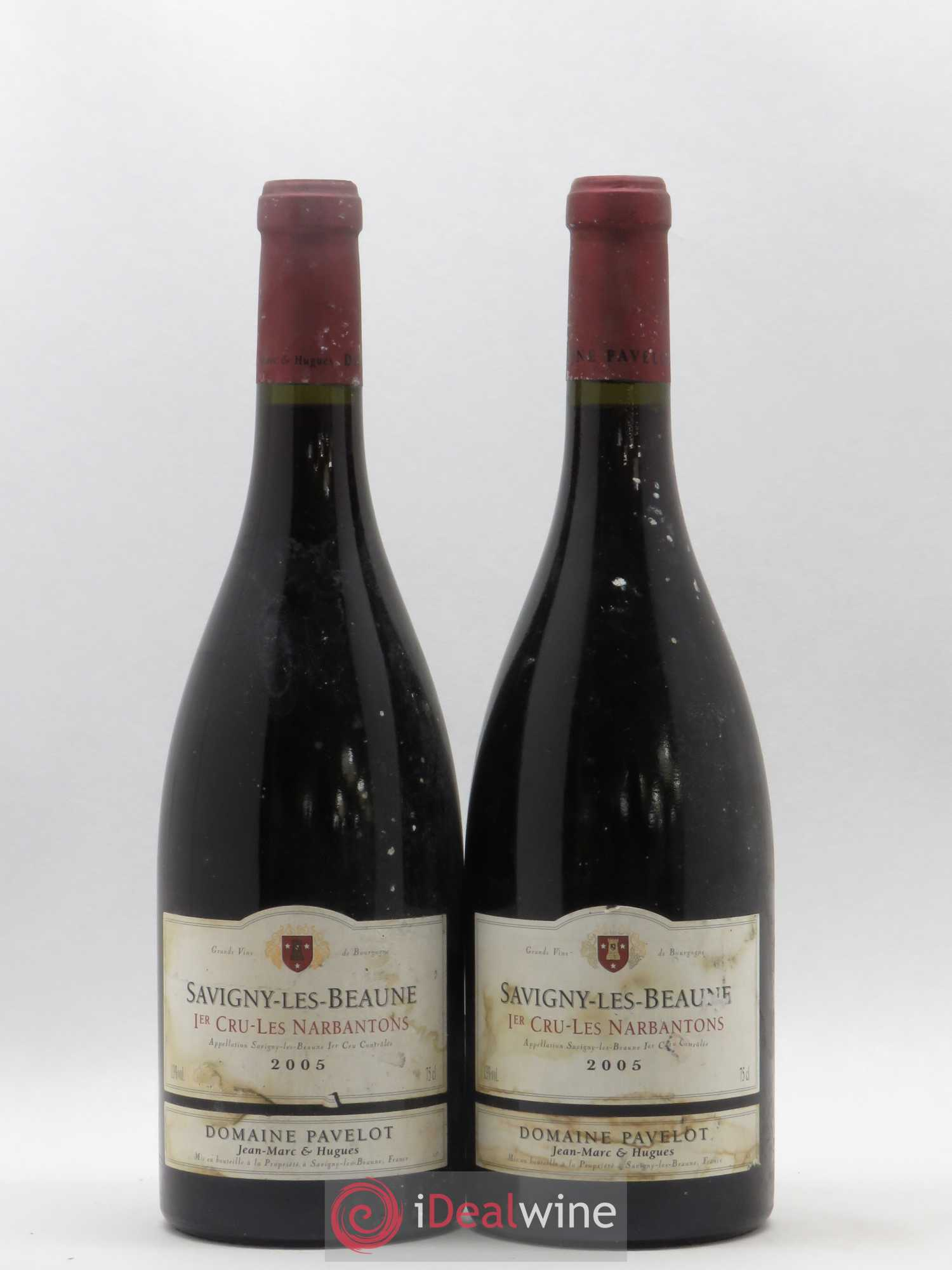 Savigny-lès-Beaune 1er Cru Les Narbantons Domaine Pavelot (no reserve) 2005 - Lot of 2 Bottles