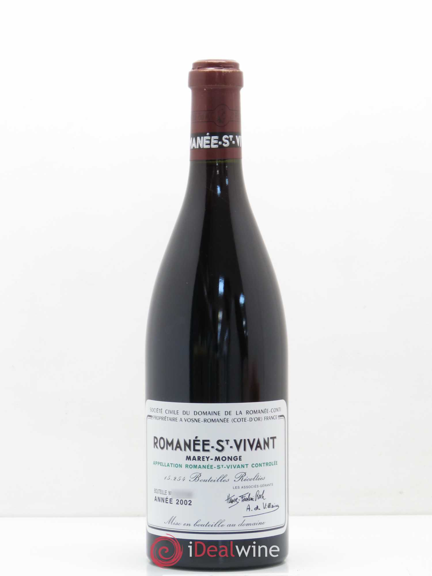 Romanée-Saint-Vivant Grand Cru Domaine de la Romanée-Conti  2002 - Lot of 1 Bottle
