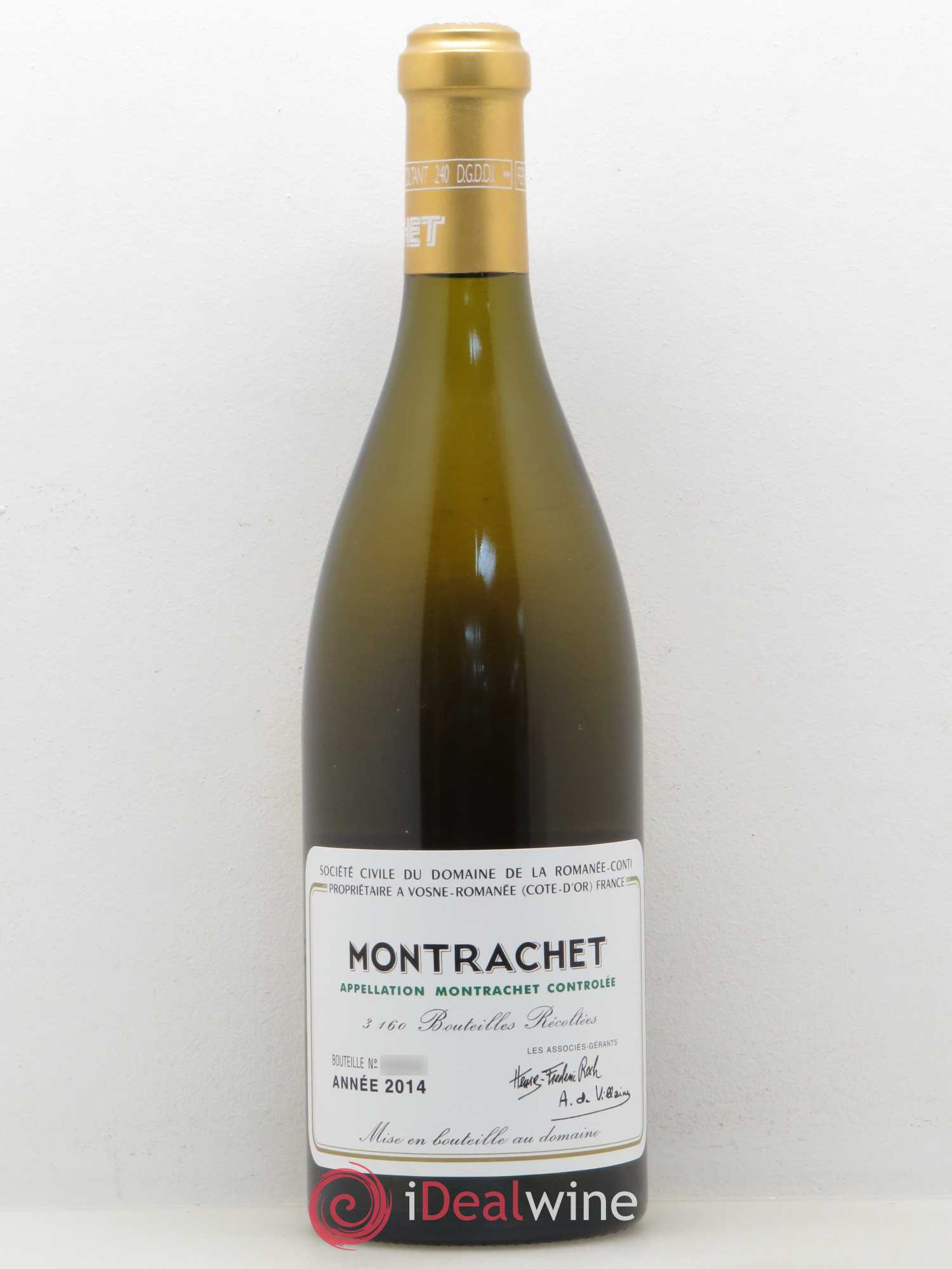 Montrachet Grand Cru Domaine de la Romanée-Conti  2014 - Lot of 1 Bottle