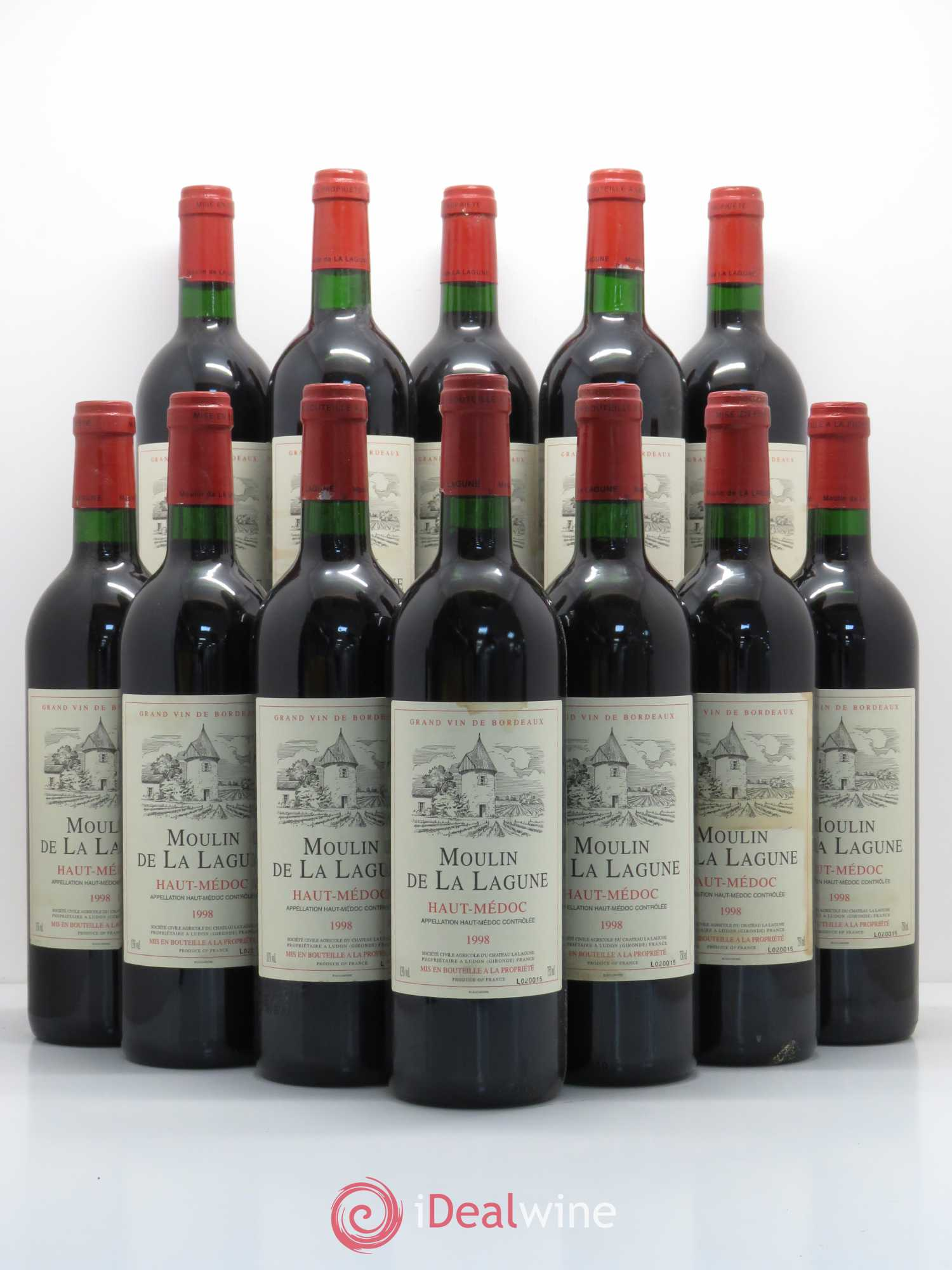 Moulin de La Lagune Second vin  1998 - Lot de 12 Bouteilles