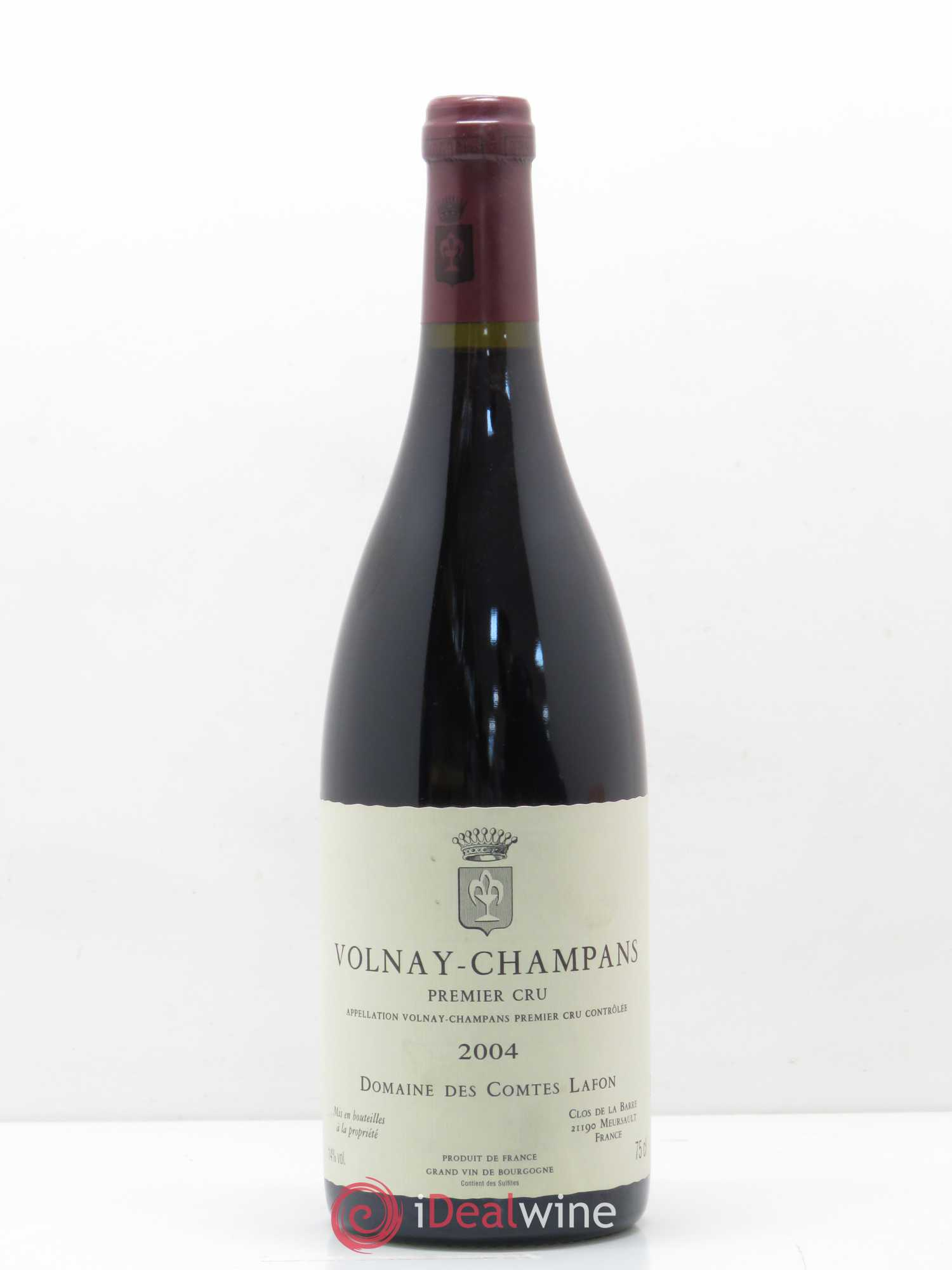 Volnay 1er Cru Champans Comtes Lafon (Domaine des)  2004 - Lot of 1 Bottle