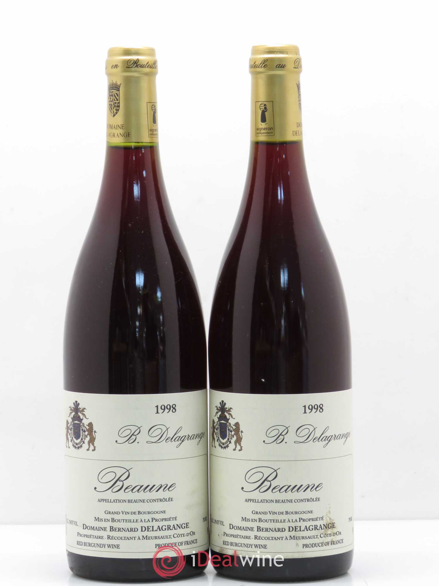 Beaune Domaine Bernard Delagrange (no reserve) 1998 - Lot of 2 Bottles