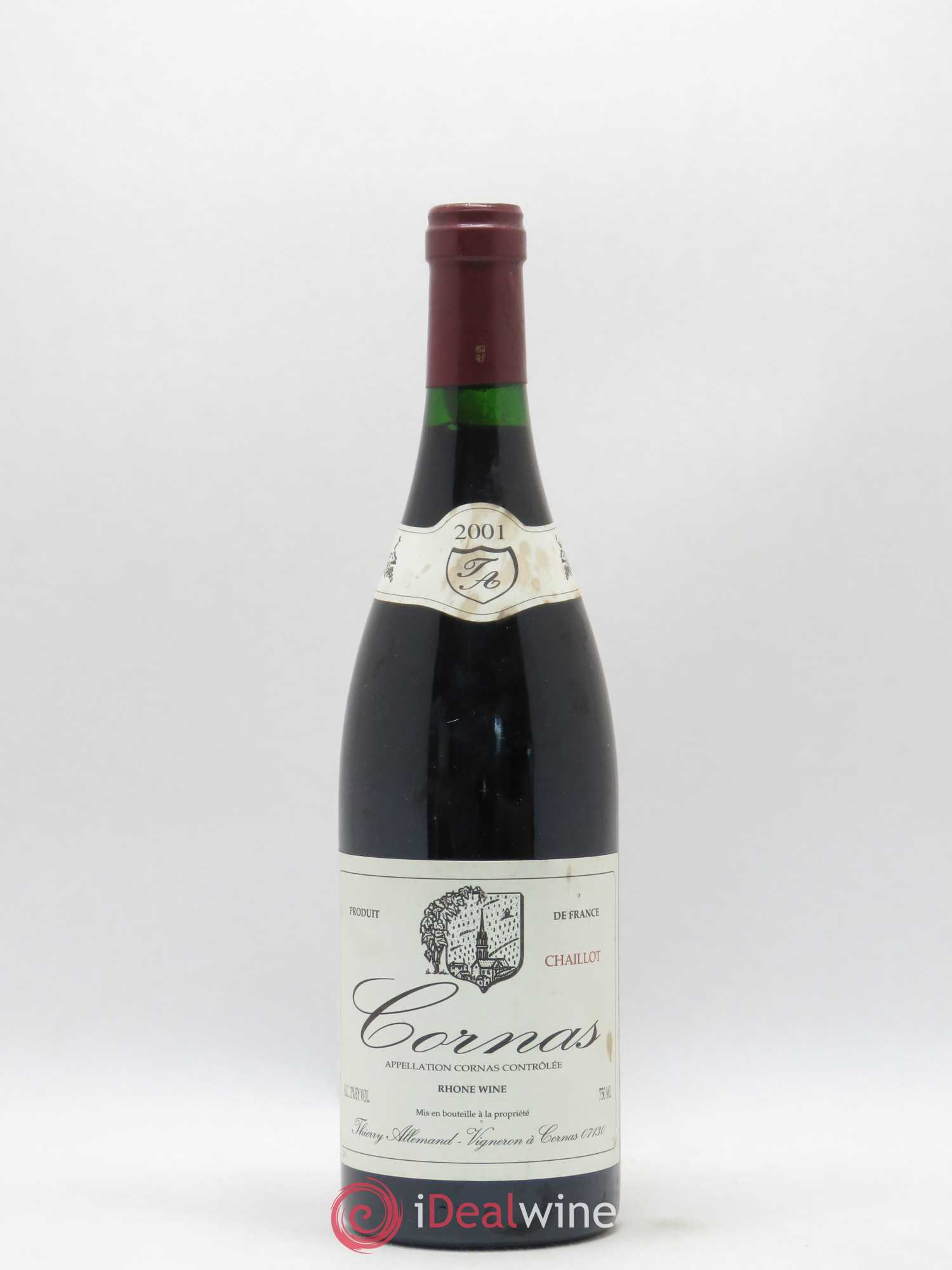 Cornas Chaillot Thierry Allemand  2001 - Lot of 1 Bottle