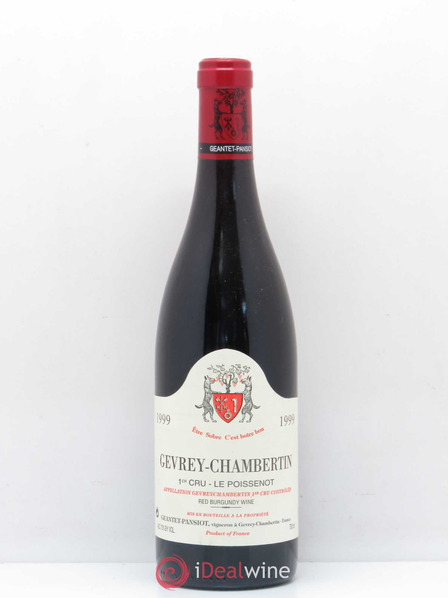 Gevrey-Chambertin 1er Cru Le Poissenot Geantet-Pansiot  1999 - Lot of 1 Bottle