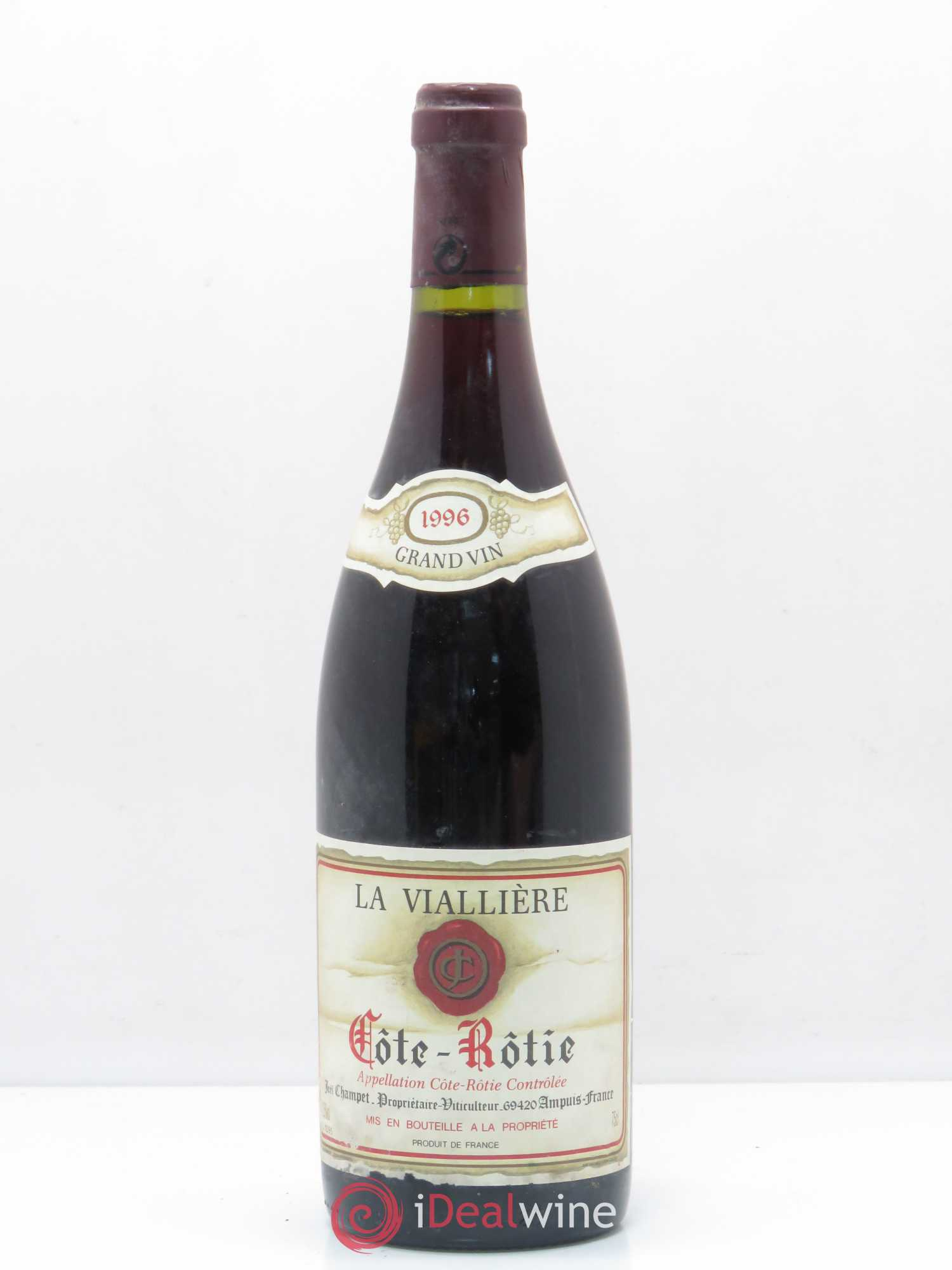 Côte-Rôtie La Viallière Joel Champet 1996 - Lot of 1 Bottle
