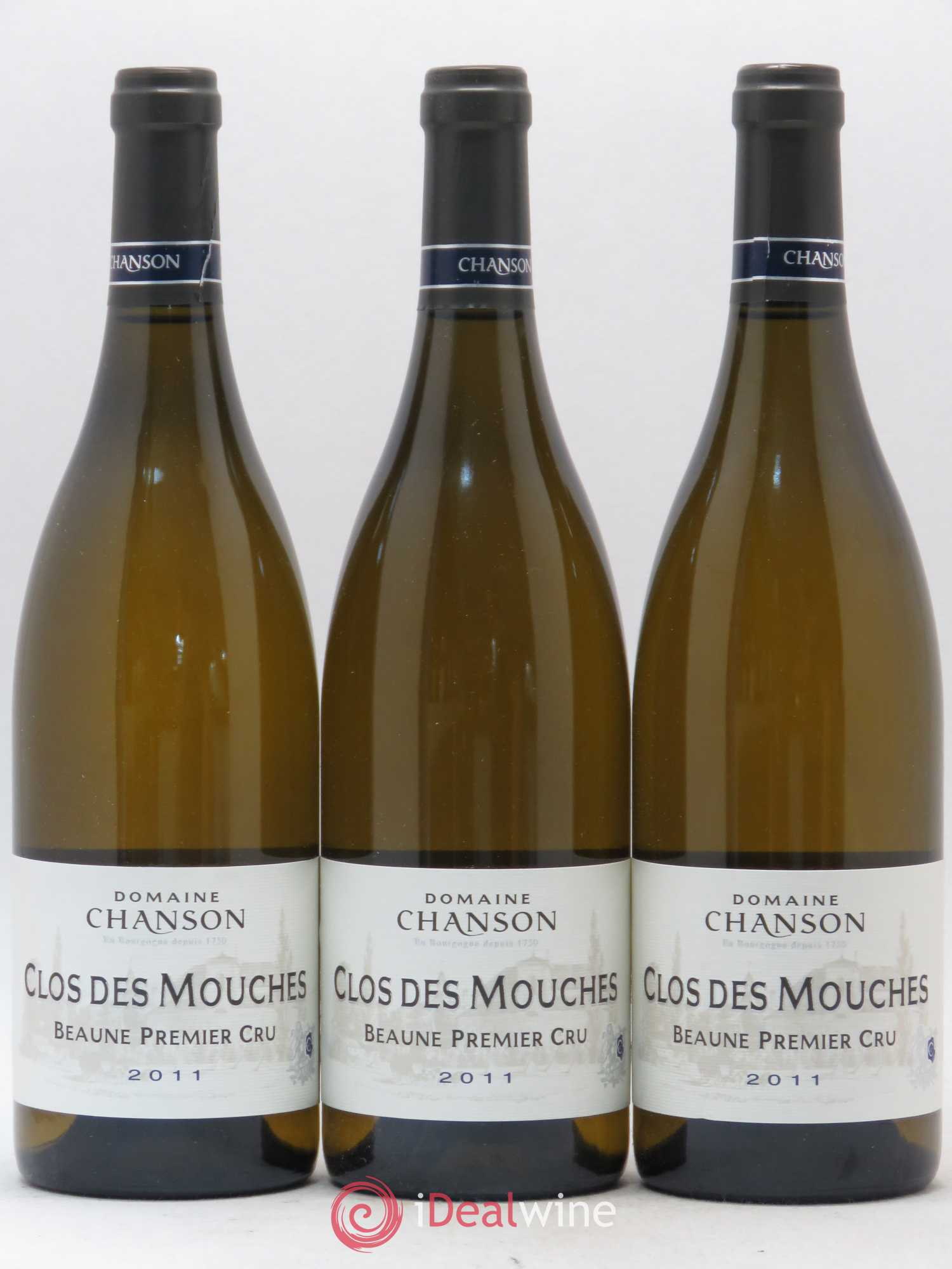 Beaune 1er Cru Clos des Mouches Chanson (no reserve) 2011 - Lot of 3 Bottles