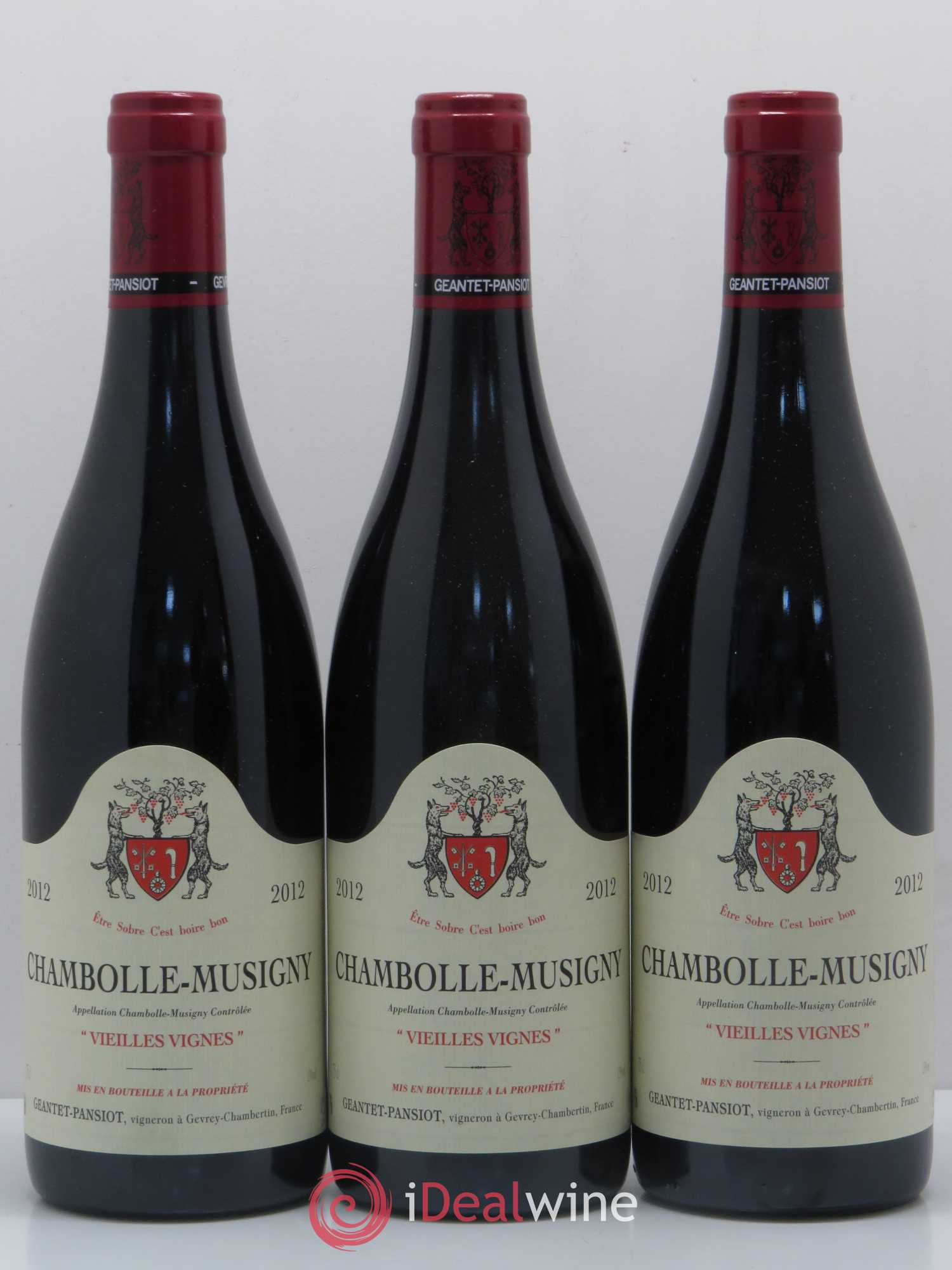 Chambolle-Musigny Vieilles vignes Geantet-Pansiot  2012 - Lot of 3 Bottles