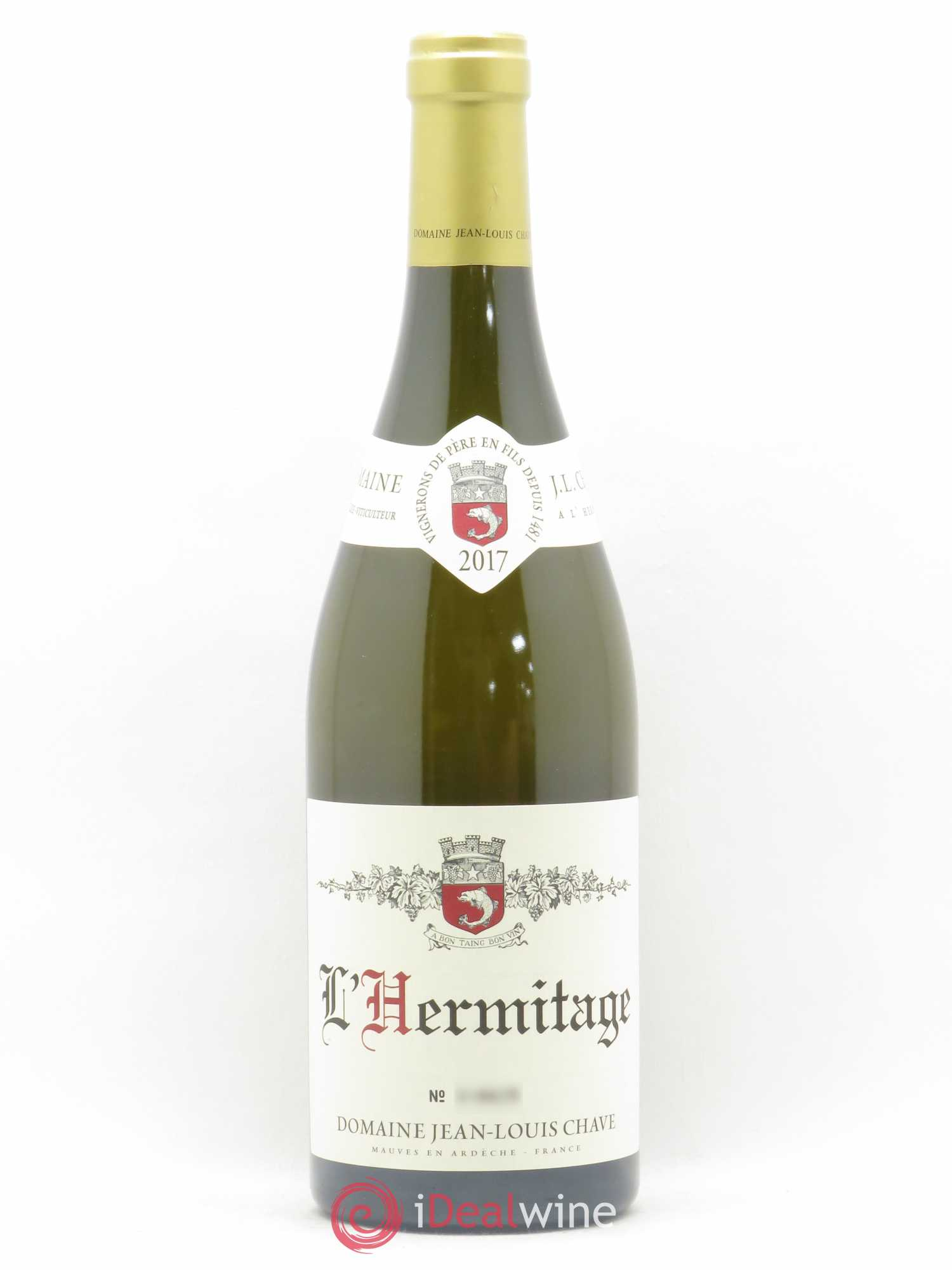 Hermitage Jean-Louis Chave  2017 - Lot of 1 Bottle