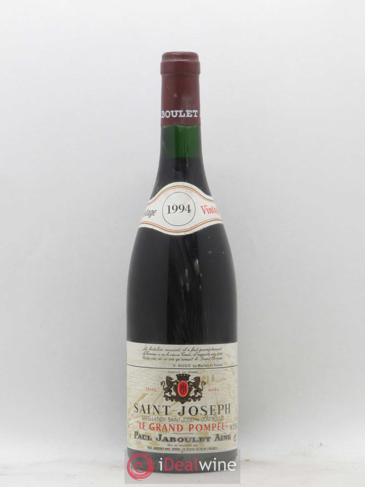 Saint-Joseph Le Grand Pompée Paul Jaboulet Ainé  1994 - Lot of 1 Bottle