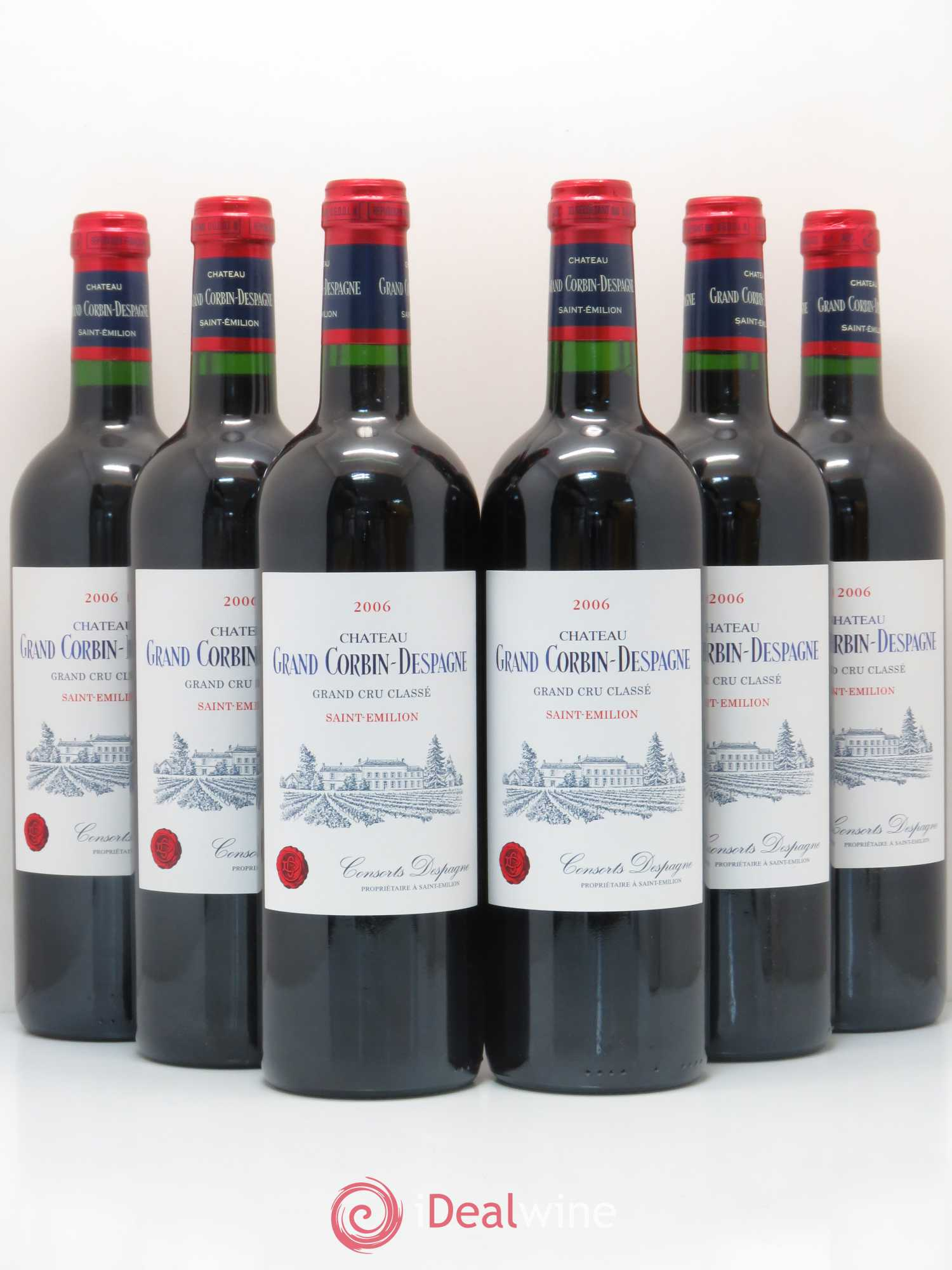 Château Grand Corbin Despagne Grand Cru Classé  2006 - Lot of 6 Bottles