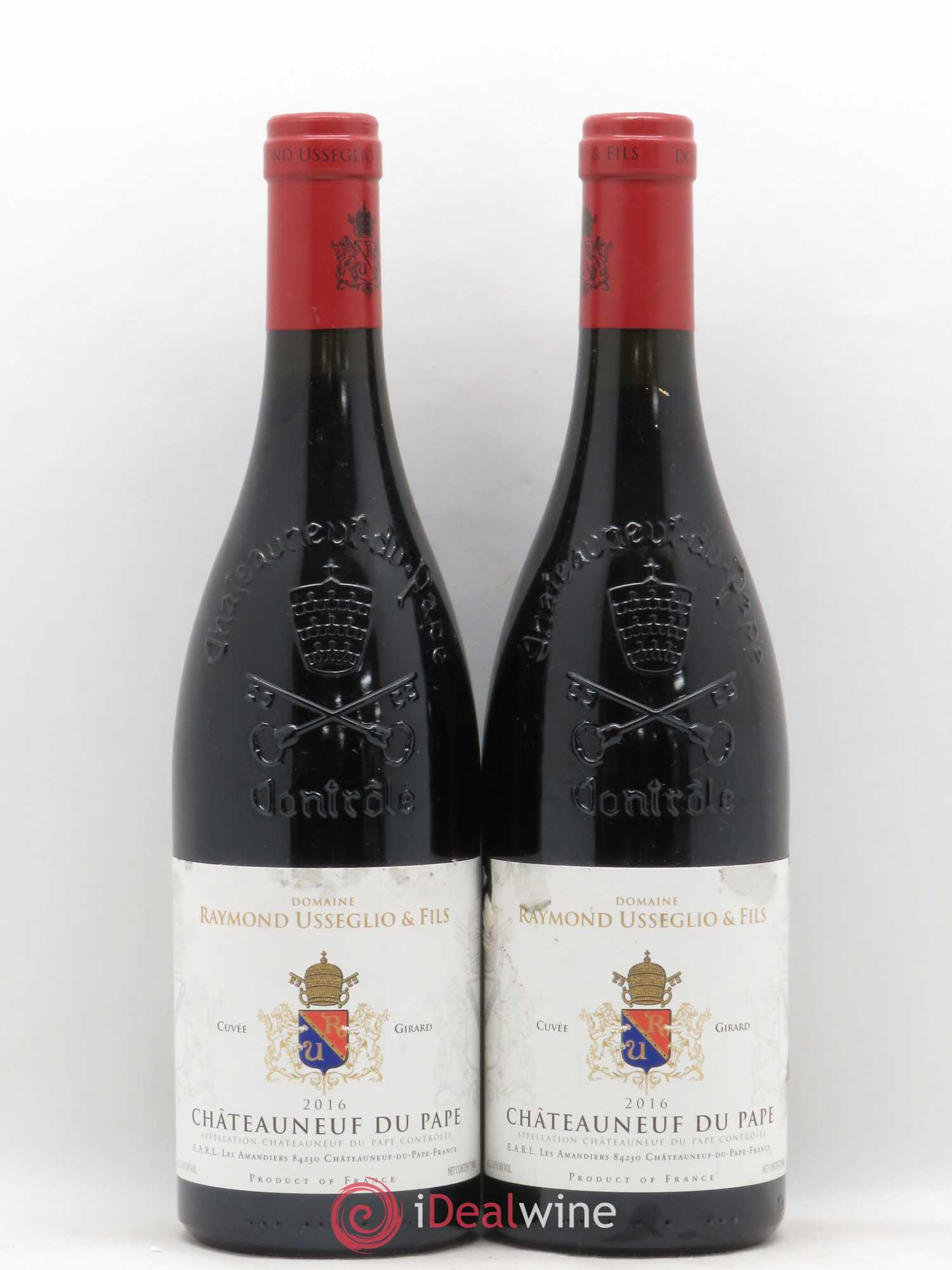 Châteauneuf-du-Pape Raymond Usseglio (Domaine) Raymond Usseglio & Fils Cuvée Girard (no reserve) 2016 - Lot of 2 Bottles