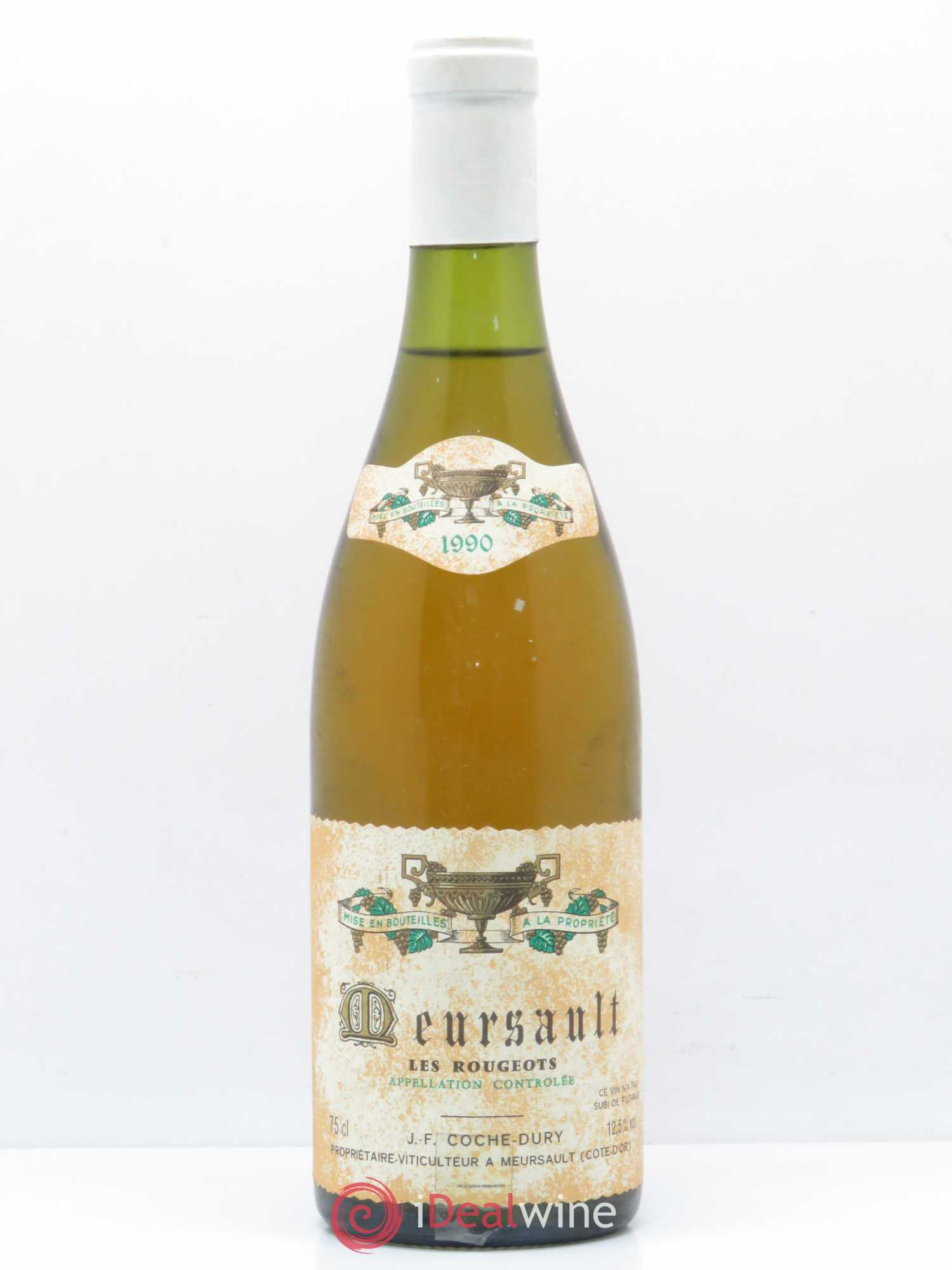 Meursault Les Rougeots Coche Dury (Domaine)  1990 - Lot of 1 Bottle