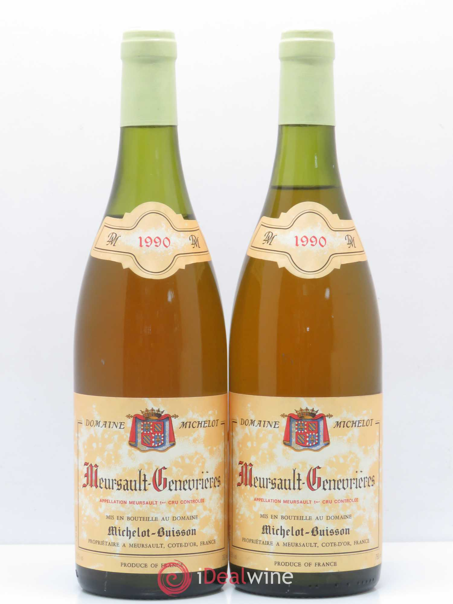 Meursault 1er Cru Genevrières Michelot-Buisson 1990 - Lot of 2 Bottles