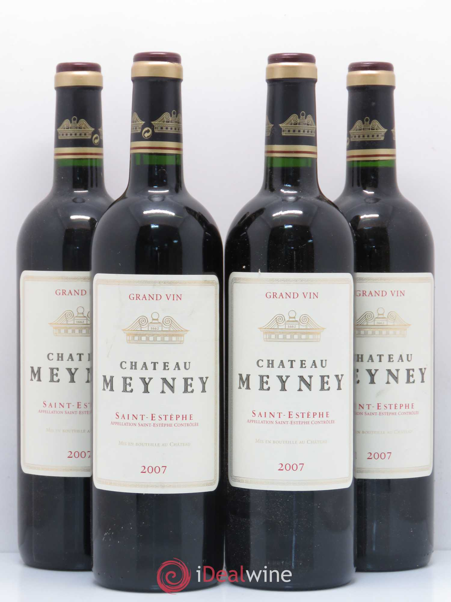 Château Meyney Cru Bourgeois  2007 - Lot of 4 Bottles