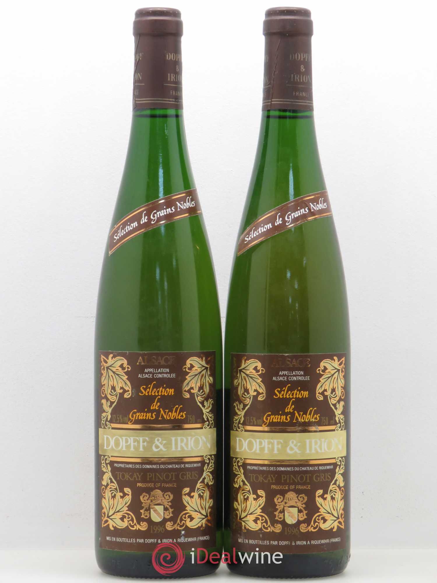 Pinot Gris (Tokay) Sélection de grains nobles Dopff et Irion 1996 - Lot of 2 Bottles