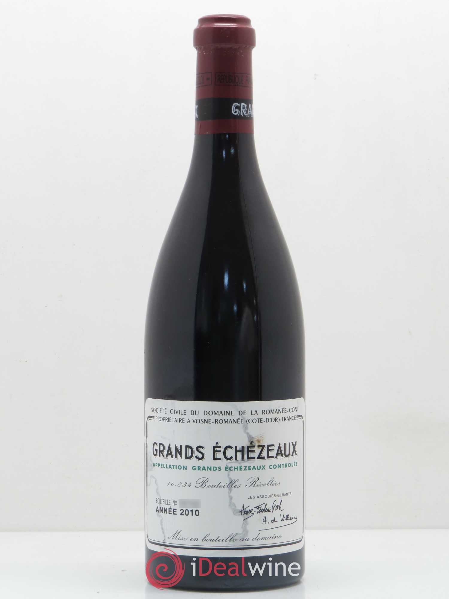 Grands-Echézeaux Grand Cru Domaine de la Romanée-Conti  2010 - Lot of 1 Bottle