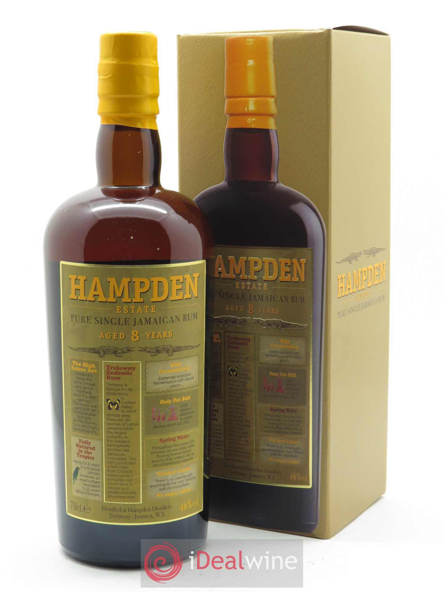 Hampden 8 years Velier (70 cl)  - Lot de 1 Bouteille