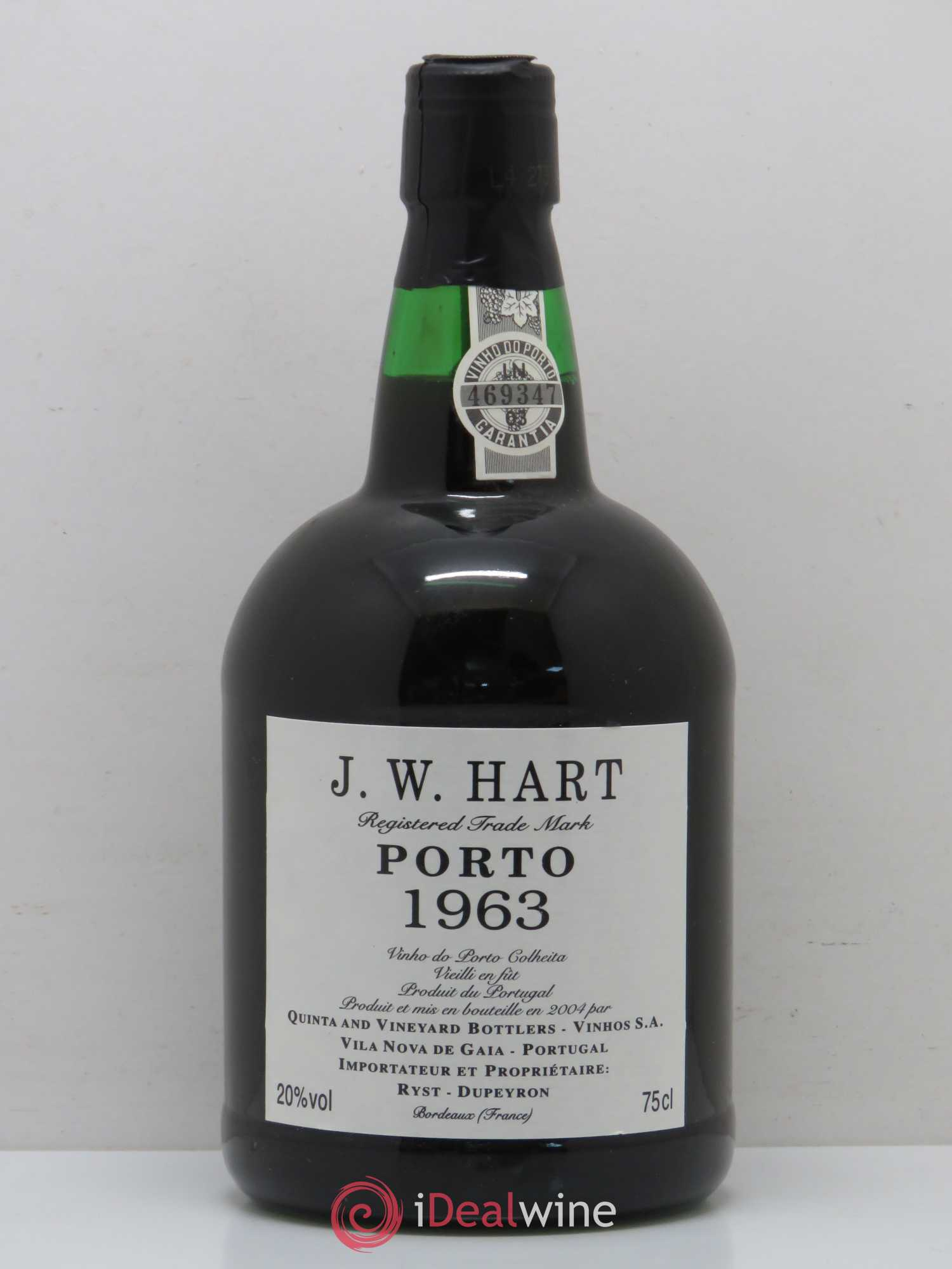 Porto JW Hart 1963 - Lot of 1 Bottle